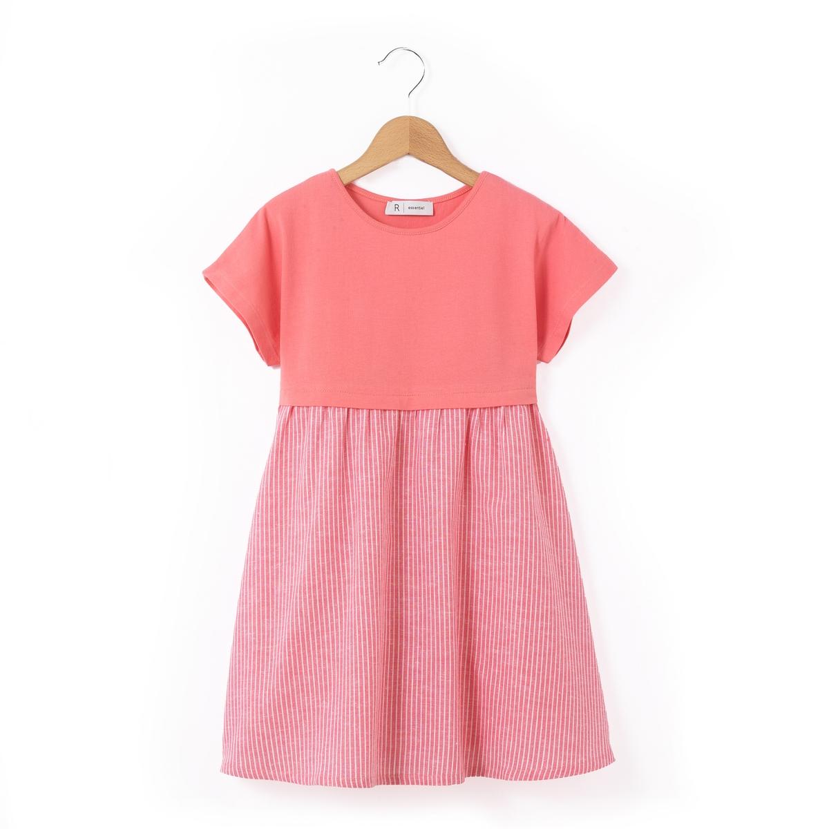 Платье в полоску с короткими рукавами 3-12 лет