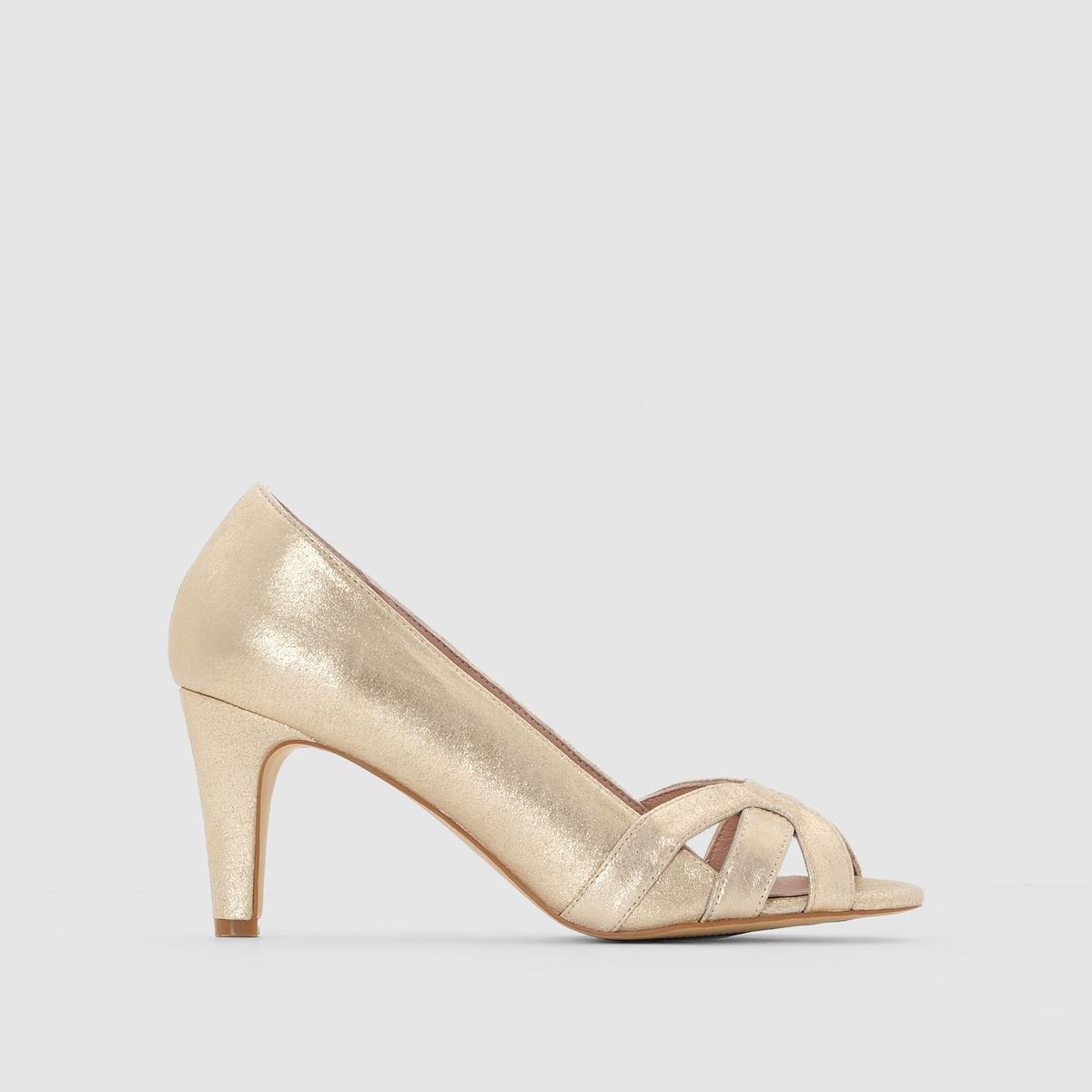 Туфли кожаные с блестками в стиле ретро от MADEMOISELLE R