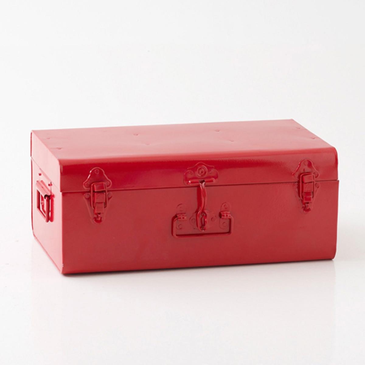 Сундук-чемодан из металла, MasaПрактичный, яркий сундук-чемодан из металла Masa объединяет эпохи и очень актуален сегодня  !Описание сундука-чемодана Masa  :3 ручки по бокам : боковая + 1 спереди . 2 застежки-защелки и 1 застежка с запорным устройством по центру . Характеристики сундука-чемодана Masa :Из металла, покрытого яркой эпоксидной краской сверху . Найдите другие модели коллекции Masa на нашем сайте .Размеры сундука-чемодана Masa :Ширина : 49 см Высота : 19 см.Глубина : 30 смРазмеры с упаковкой :1 упаковка56 x 28 x 35 см .<br><br>Цвет: серый,черный