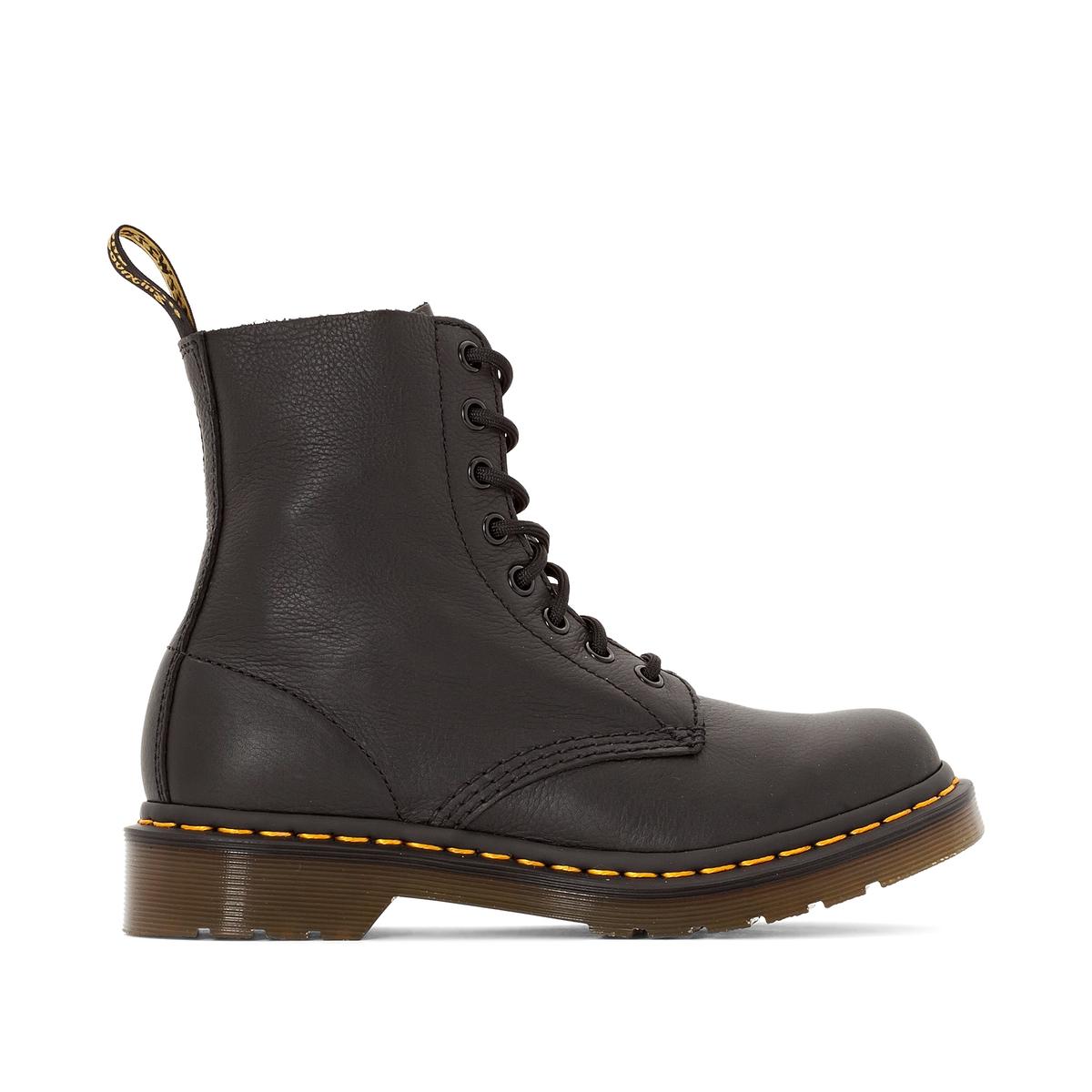 Ботинки LaRedoute Кожаные на шнуровке 1460 40 черный кеды laredoute кожаные на шнуровке v10 40 белый