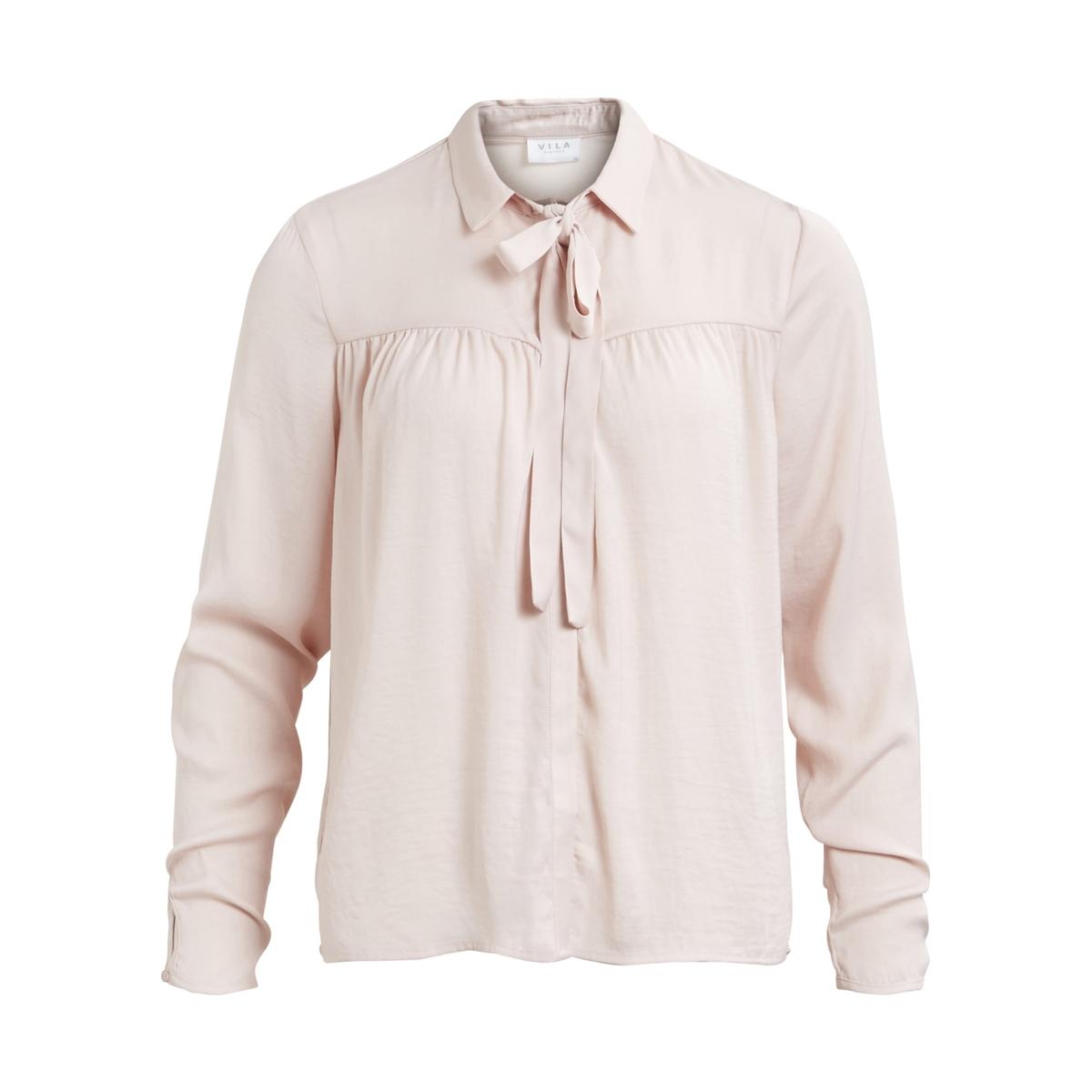 Рубашка однотонная с галстуком-бантом и длинными рукавамиДетали •  Длинные рукава •  Прямой покрой  •  Галстук-бант •  Кончики воротника на пуговицахСостав и уход •  100% полиэстер •  Следуйте советам по уходу, указанным на этикетке<br><br>Цвет: светло-розовый<br>Размер: L