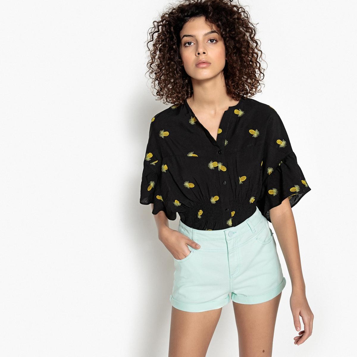 Блузка с V-образным вырезом и графическим рисунком, без рукавов lovaru ™ 2015 летний стиль женщин моды платье без рукавов мини v образным вырезом высокое качество мягкие и удобные платья горячей продажи