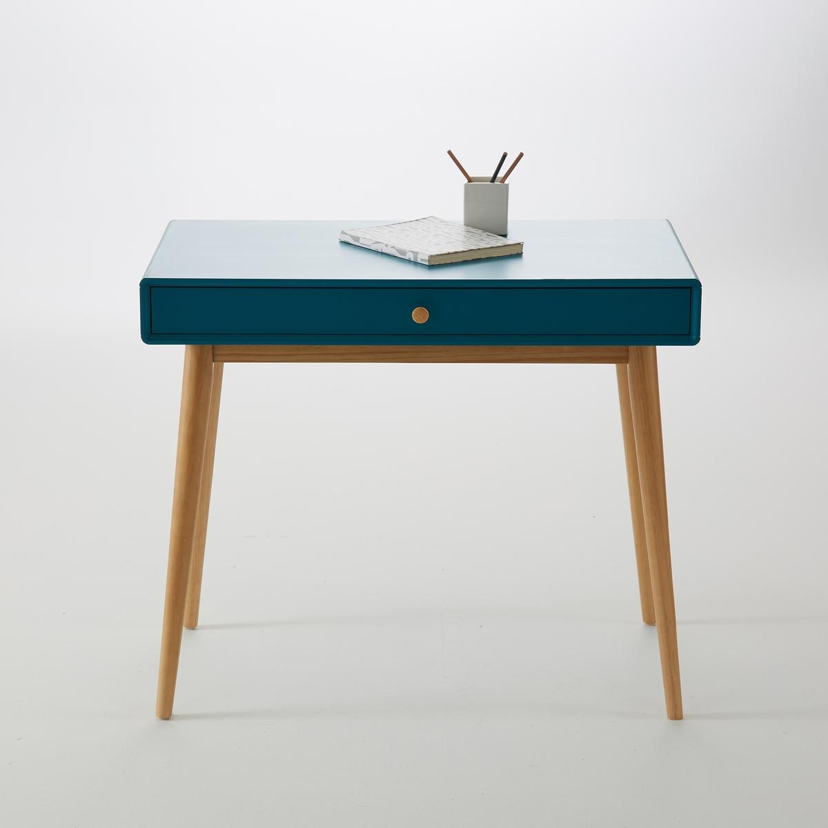 Стол La Redoute Письменный с ящиком JIMI единый размер синий стол la redoute письменный из массива сосны на треноге jimi единый размер белый