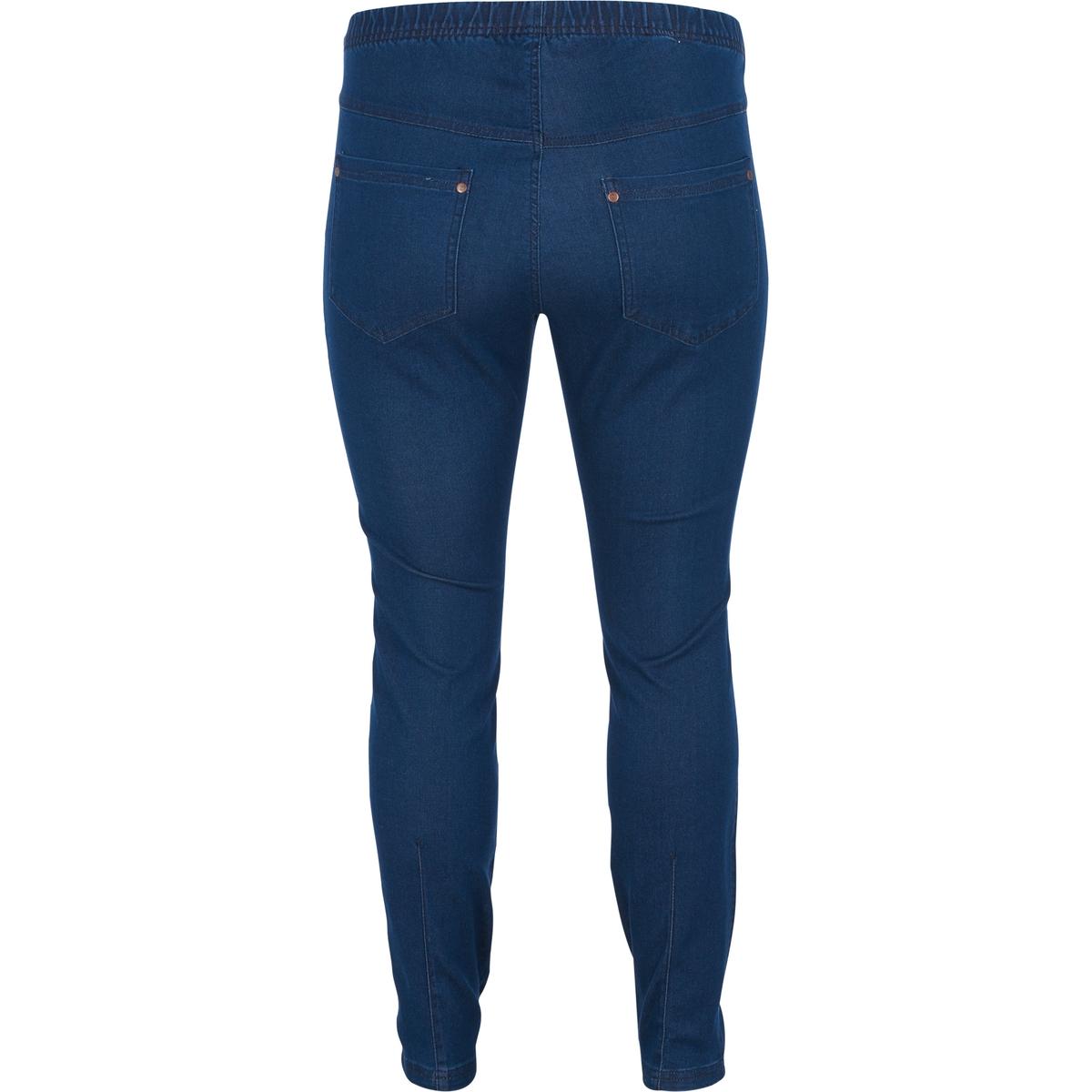 ЛеггинсыЛеггинсы ZIZZI. 70% хлопка, 28% полиэстера, 2% эластана.. Красивые леггинсы из денима. Без застёжки на пуговицу. Эластичный пояс. Присборенные брючины. Приятный в носке стрейчевый материал.<br><br>Цвет: темно-синий<br>Размер: 50/52 (FR) - 56/58 (RUS).46/48 (FR) - 52/54 (RUS).54/56 (FR) - 60/62 (RUS)