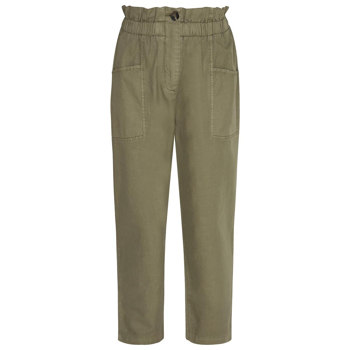 Брюки La Redoute Широкие с высокой талией M зеленый брюки la redoute широкие с завышенной талией и стилизованным рисунком m красный