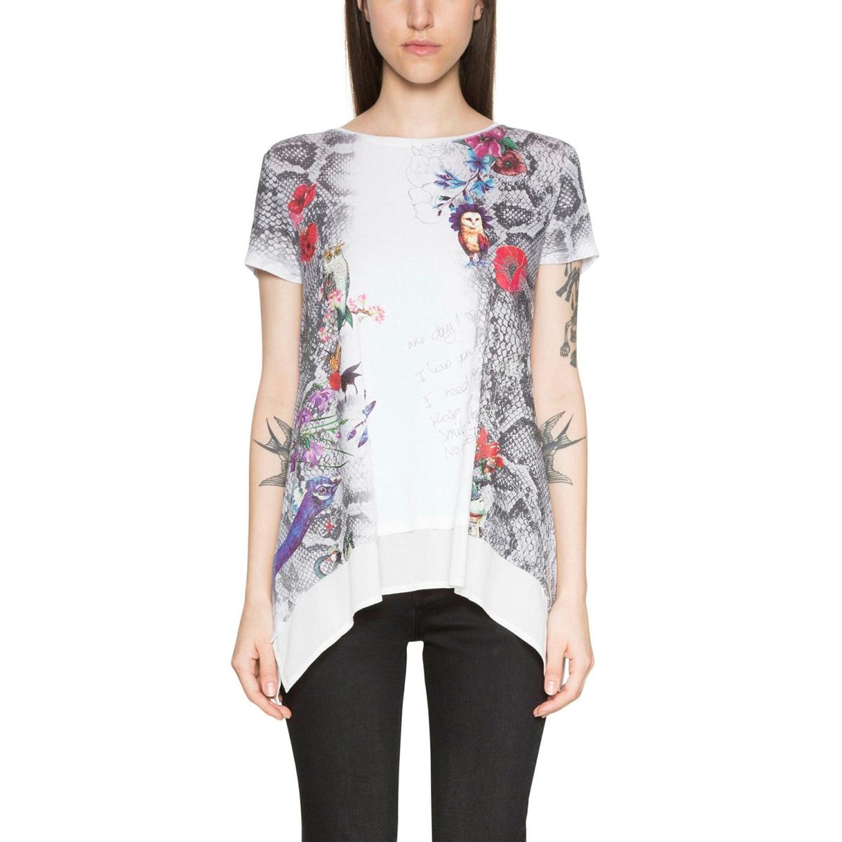 Camiseta con cuello redondo y estampado gráfico