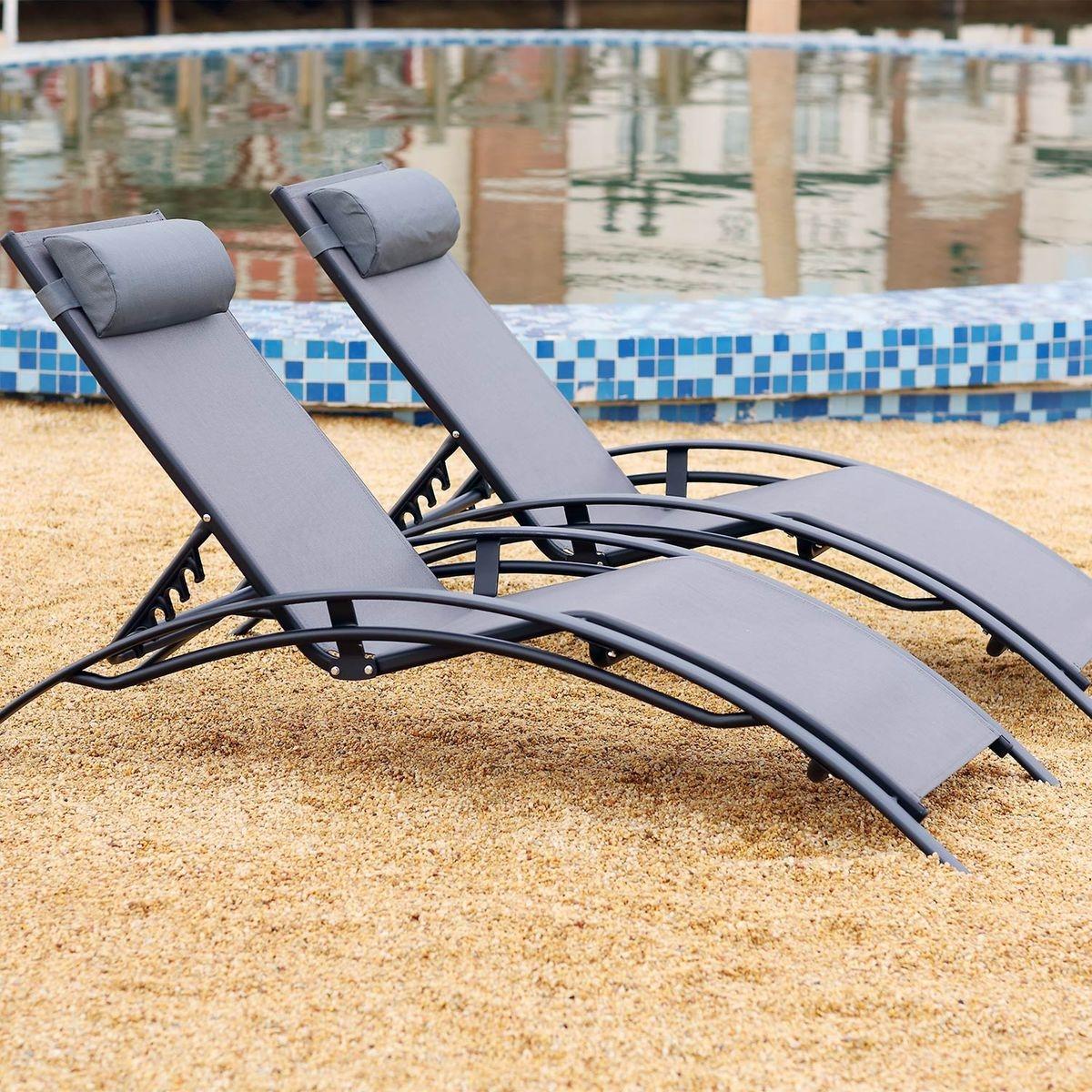 Transat Chaise Longue Jardin Meubles Deco
