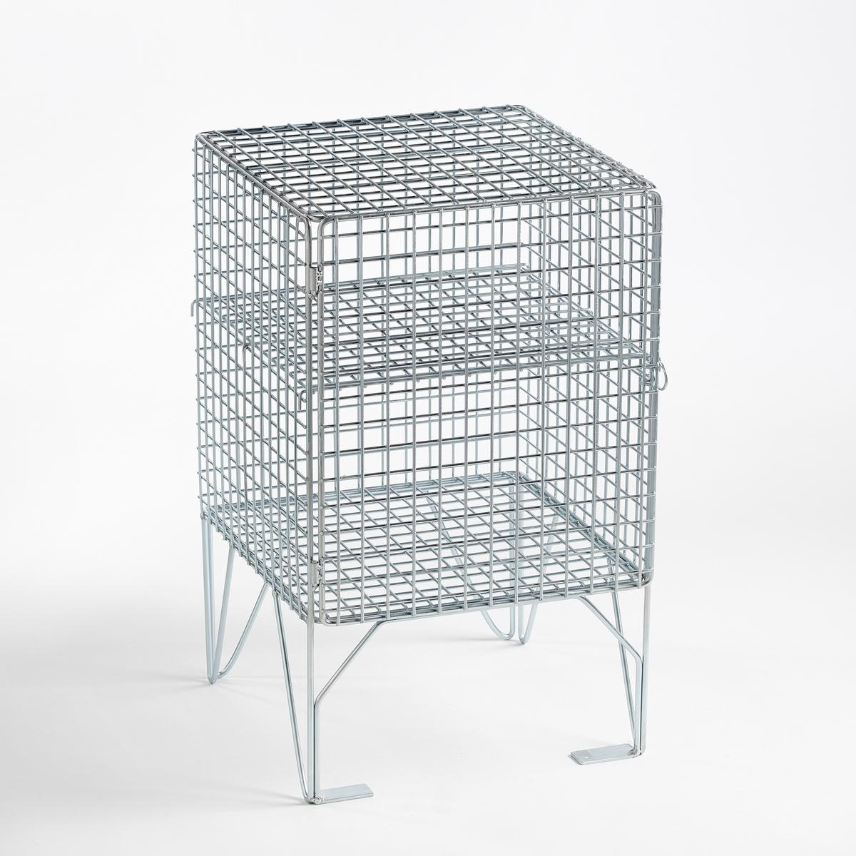 Тумба прикроватная MontozonХарактеристики :- Из металла- 1 дверца- 1 съемная этажерка Размеры :Ш35,2 x В56,4 x Г35,5 см Размеры и вес упаковки :Ш66,8 x В42 x Г66,8 см, 8,6 кг<br><br>Цвет: серый