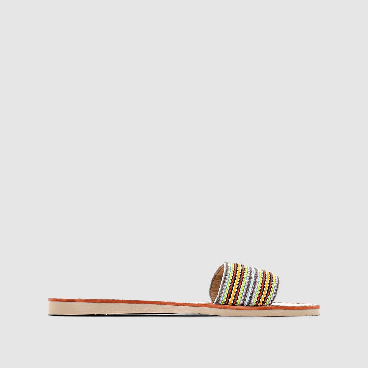 Шлёпанцы из текстиля, MELINAДаже самые простые шлёпанцы становятся ультрамодными, когда за дело берётся Coolway  !<br><br>Цвет: разноцветный<br>Размер: 36