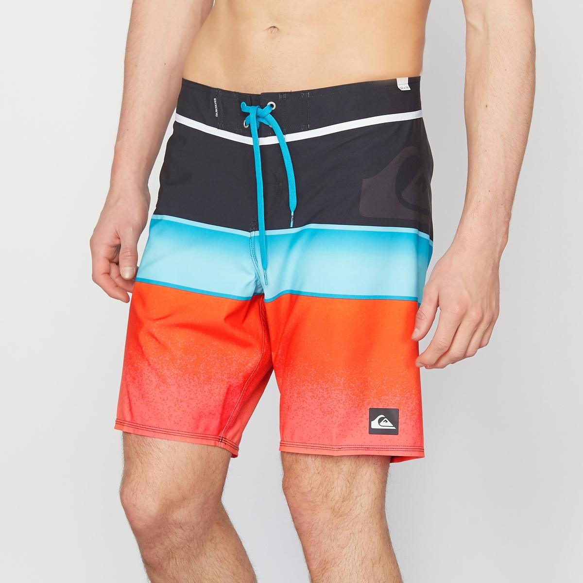 Шорты пляжные трехцветные