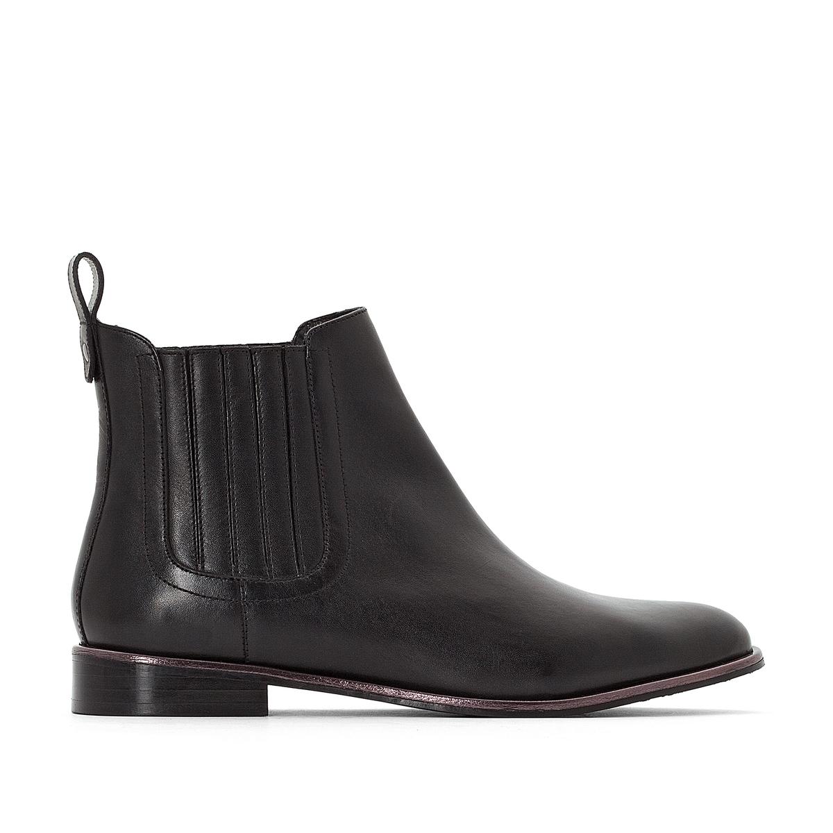 Ботинки-челси кожаные