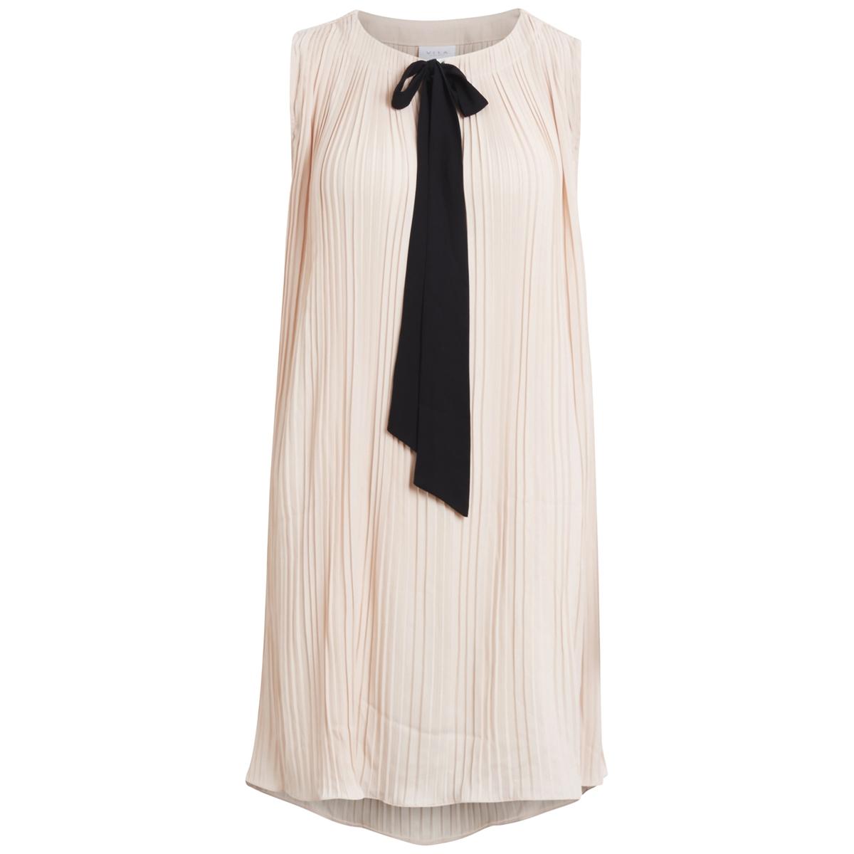 Платье средней длины, 3/4, рукава короткиеДетали •  Форма : прямая  •  Длина миди, 3/4  •  Короткие рукава    •  Галстук-бантСостав и уход •  100% полиэстер  •  Следуйте советам по уходу, указанным на этикетке<br><br>Цвет: бледно-розовый