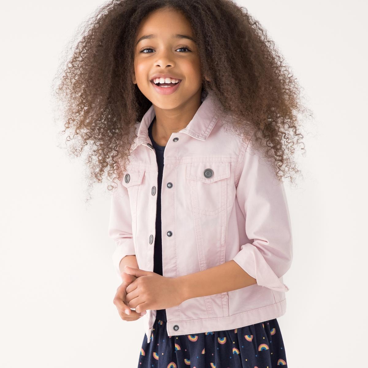 Жакет LaRedoute Короткий с застежкой на пуговицы 3-12 лет 6 лет - 114 см розовый