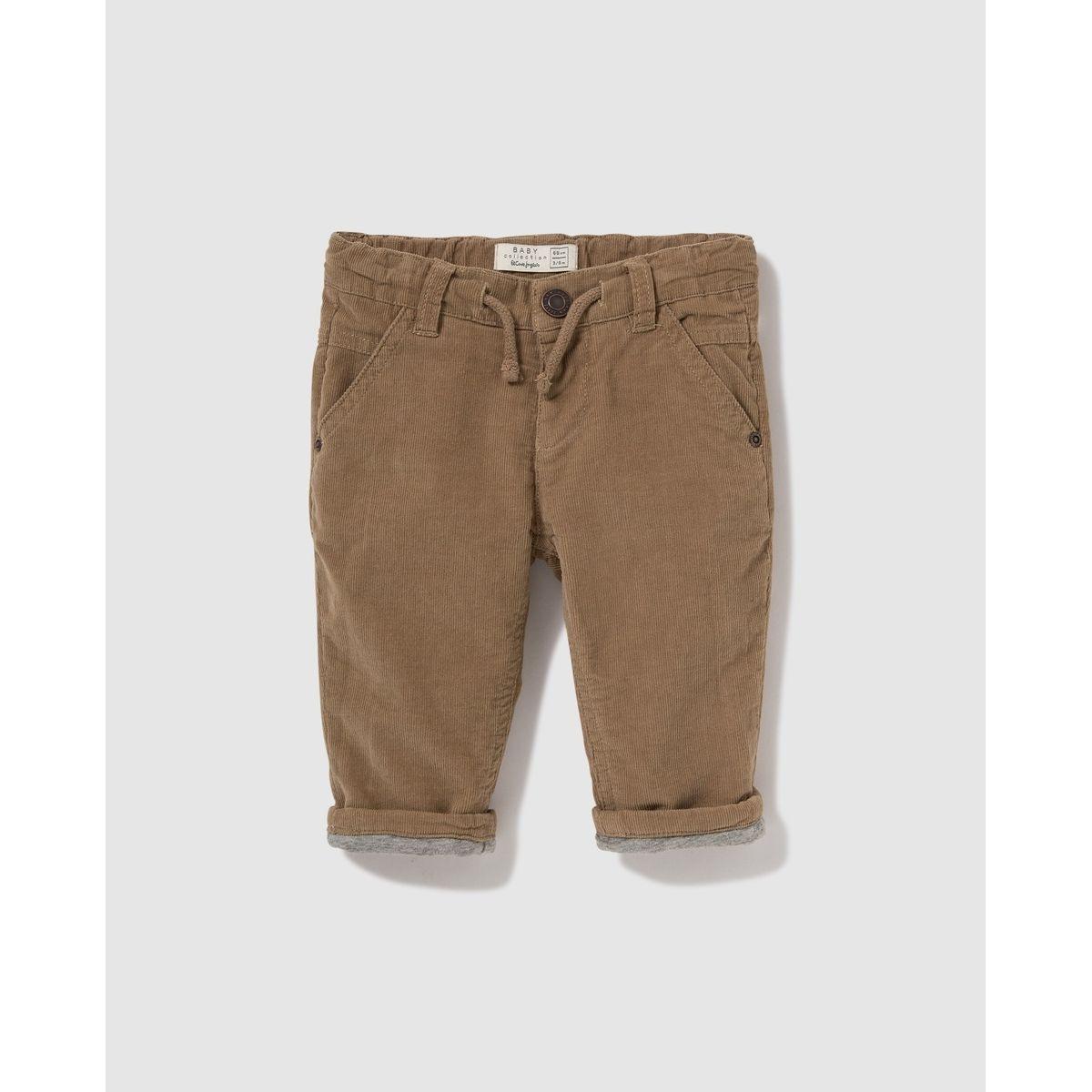 Pantalon   côtelé fin