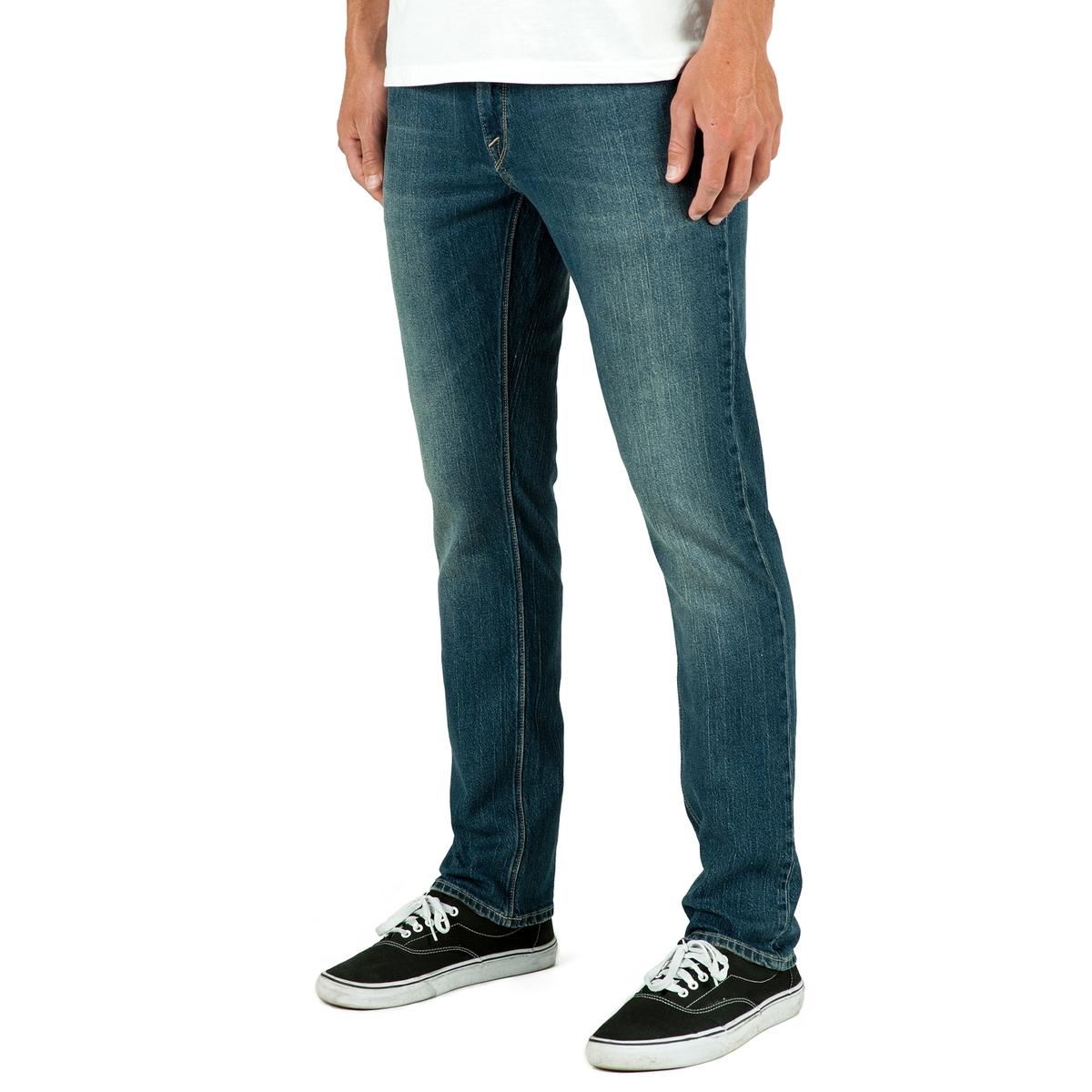 Джинсы узкие VORTA от VOLCOM volcom джинсы volcom riser jean indigo