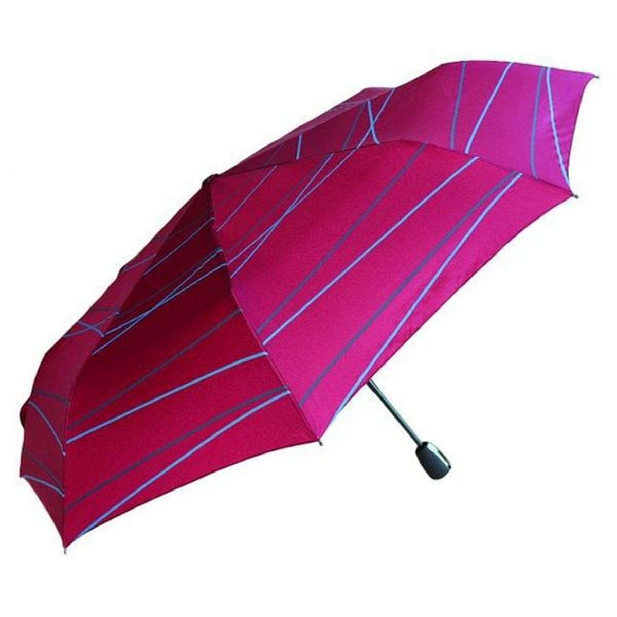 Parapluie NEYRAT Autun - Motif graphique ligne - Mini - Rouge