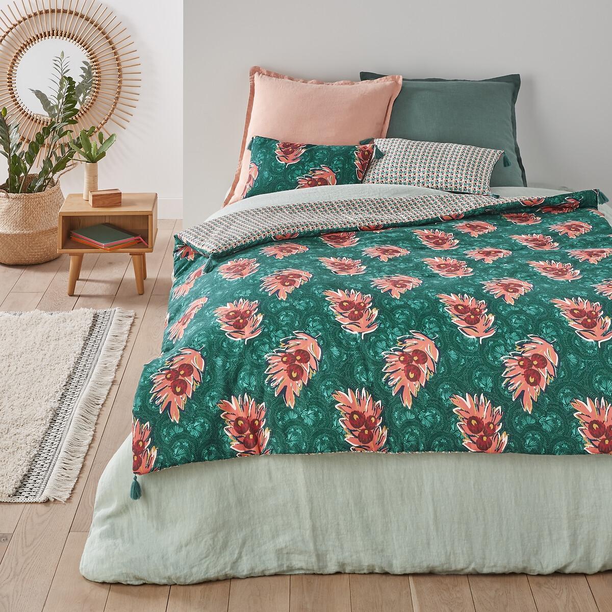 Одеяло LaRedoute С рисунком из 100 осветленного хлопка Sami 90 x 190 см синий