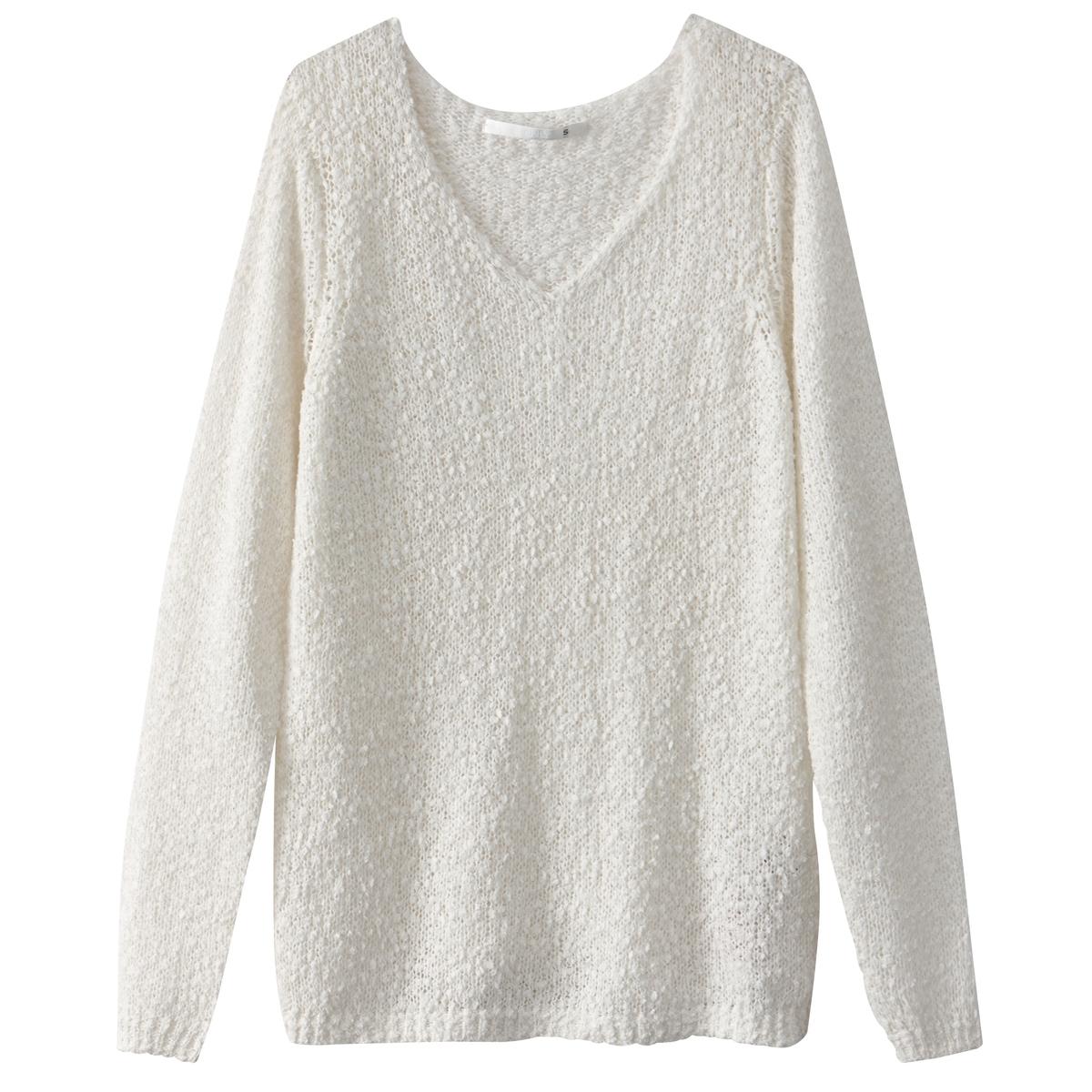 Пуловер с длинными рукавамиДетали   •  Пуловер классический •  Длинные рукава •  Круглый вырез •  Тонкий трикотажСостав и уход   •  80% акрила, 20% полиамида  •  Следуйте рекомендациям по уходу, указанным на этикетке изделия<br><br>Цвет: белый<br>Размер: M