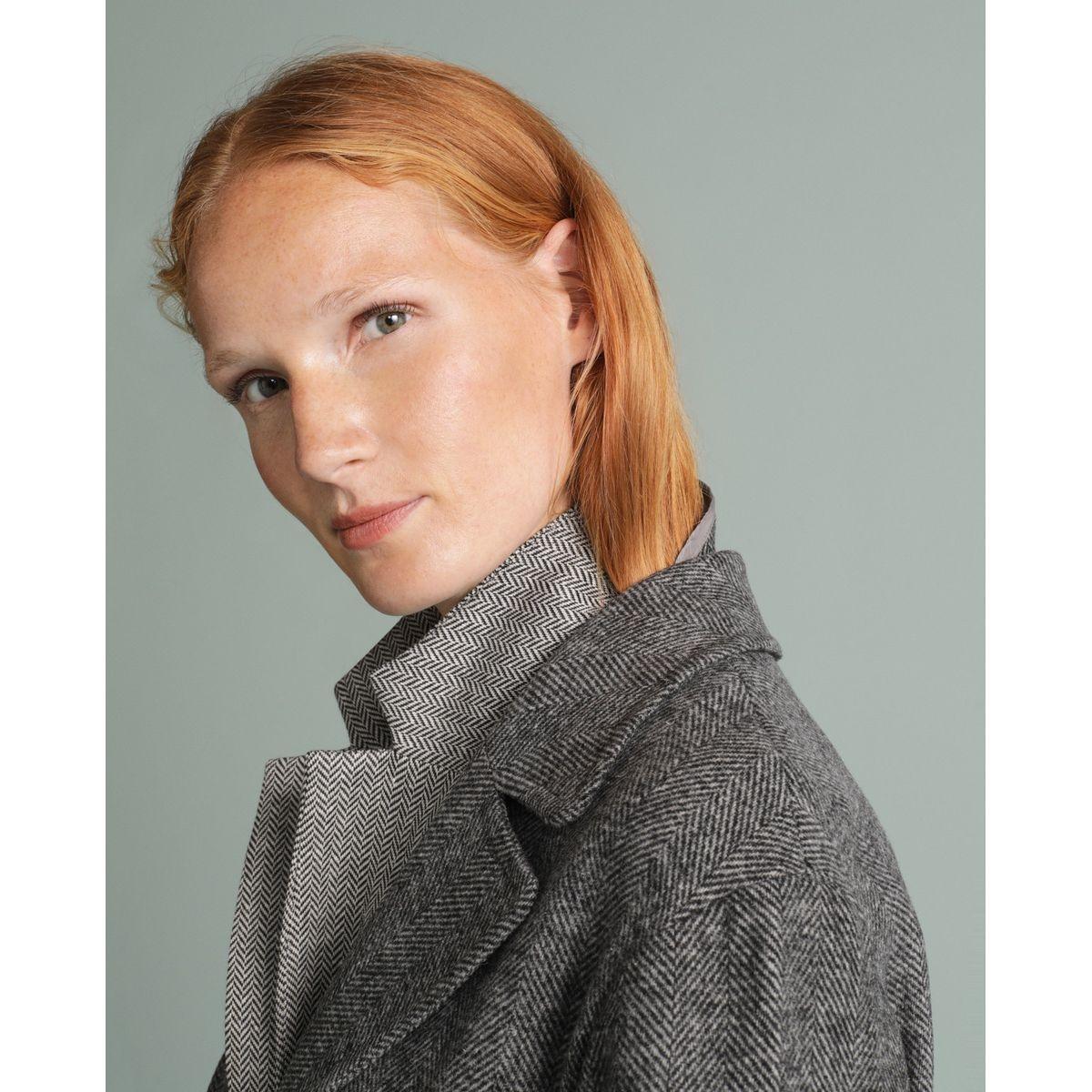 Manteau sans doublure poignets à revers