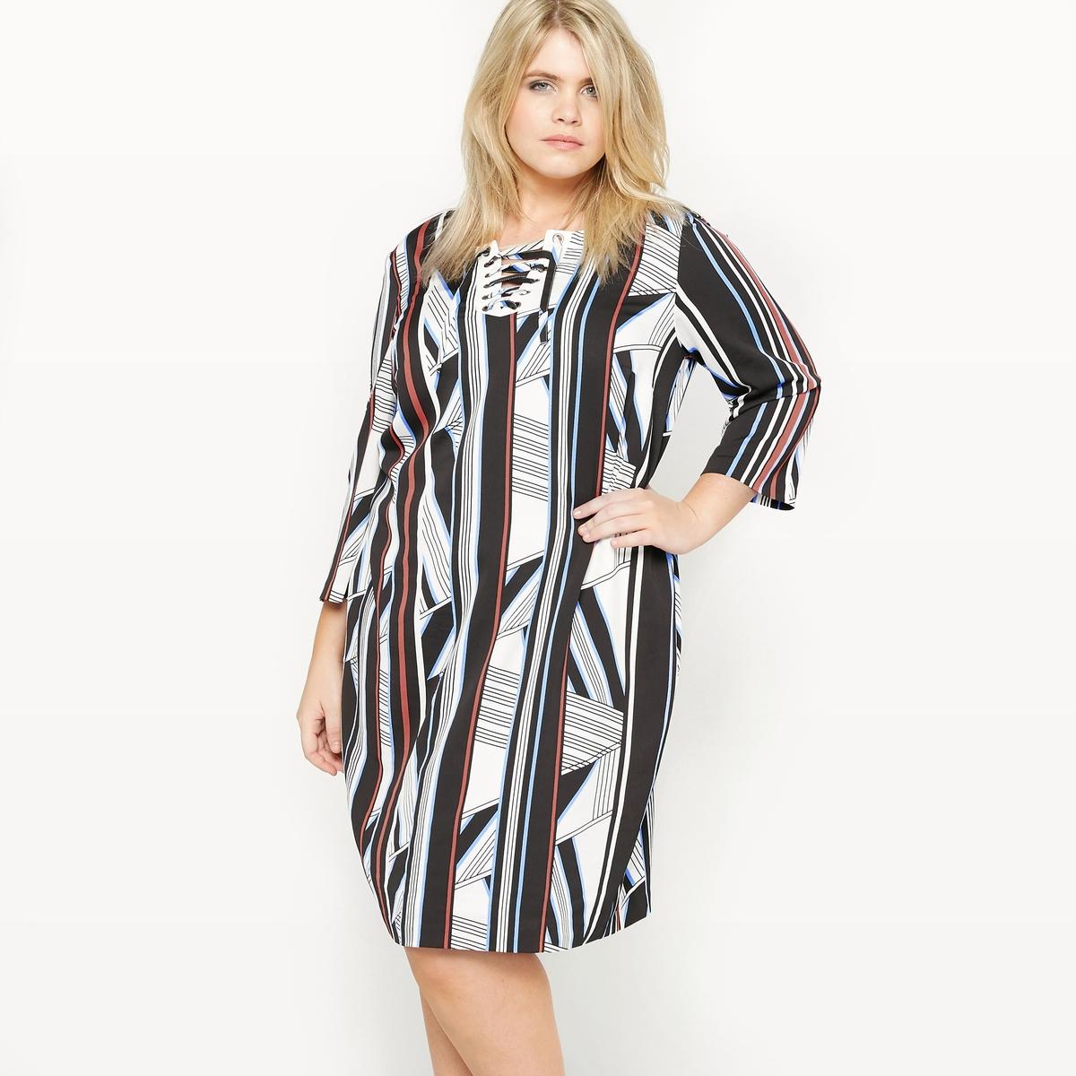 Платье-футляр с рисунком платье с рисунком