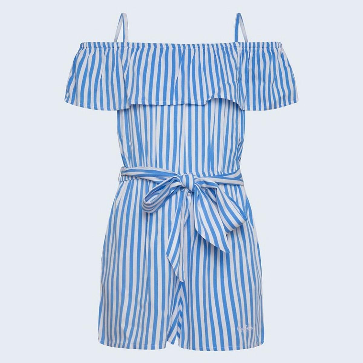 Фото - Комбинезон LaRedoute С шортами в полоску 14 синий пижама laredoute с шортами в полоску m синий
