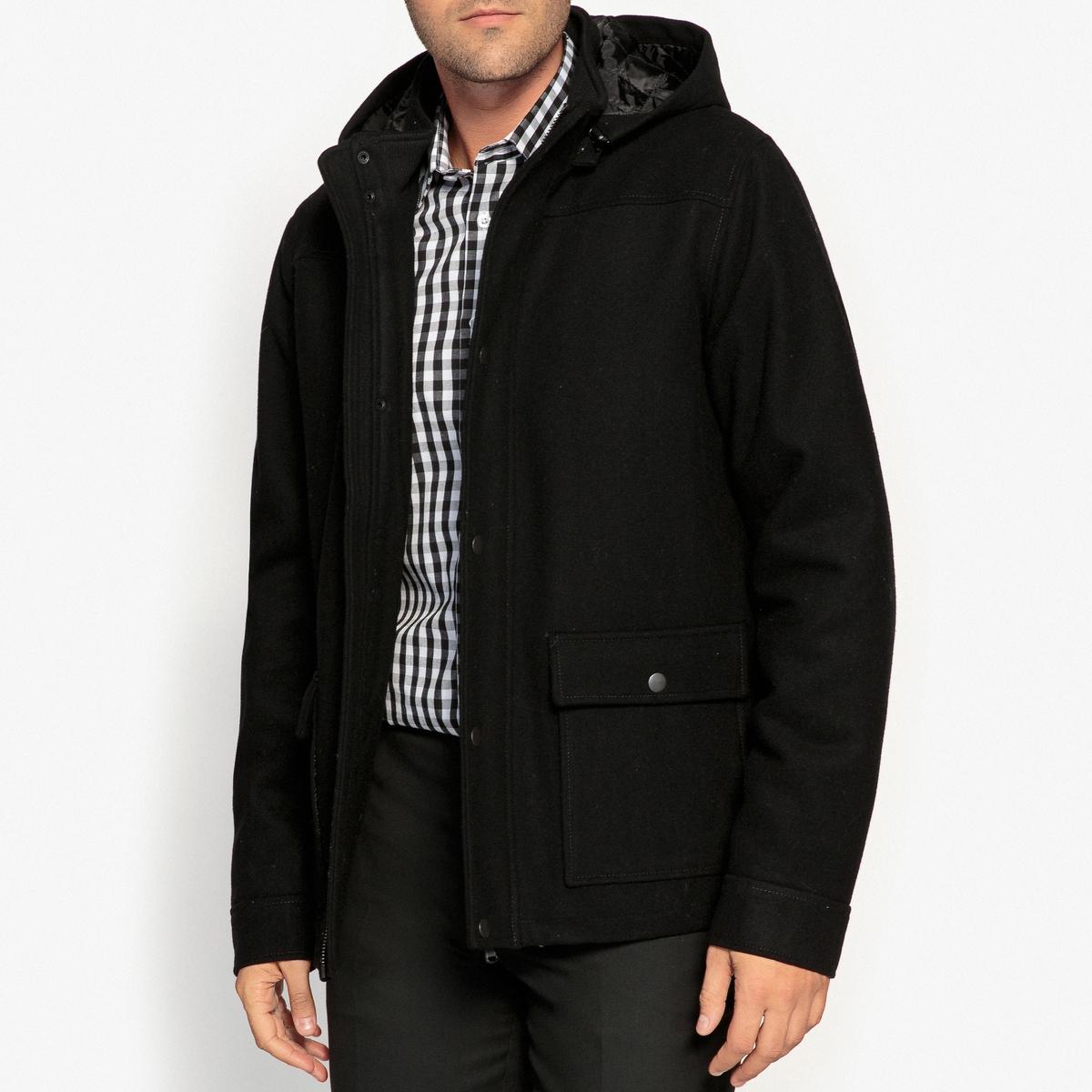 Cappotto a media lunghezza misto lana
