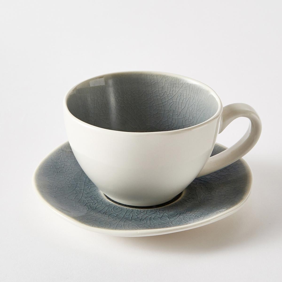 Комплект из 4 чашек и блюдец, GOGAIN