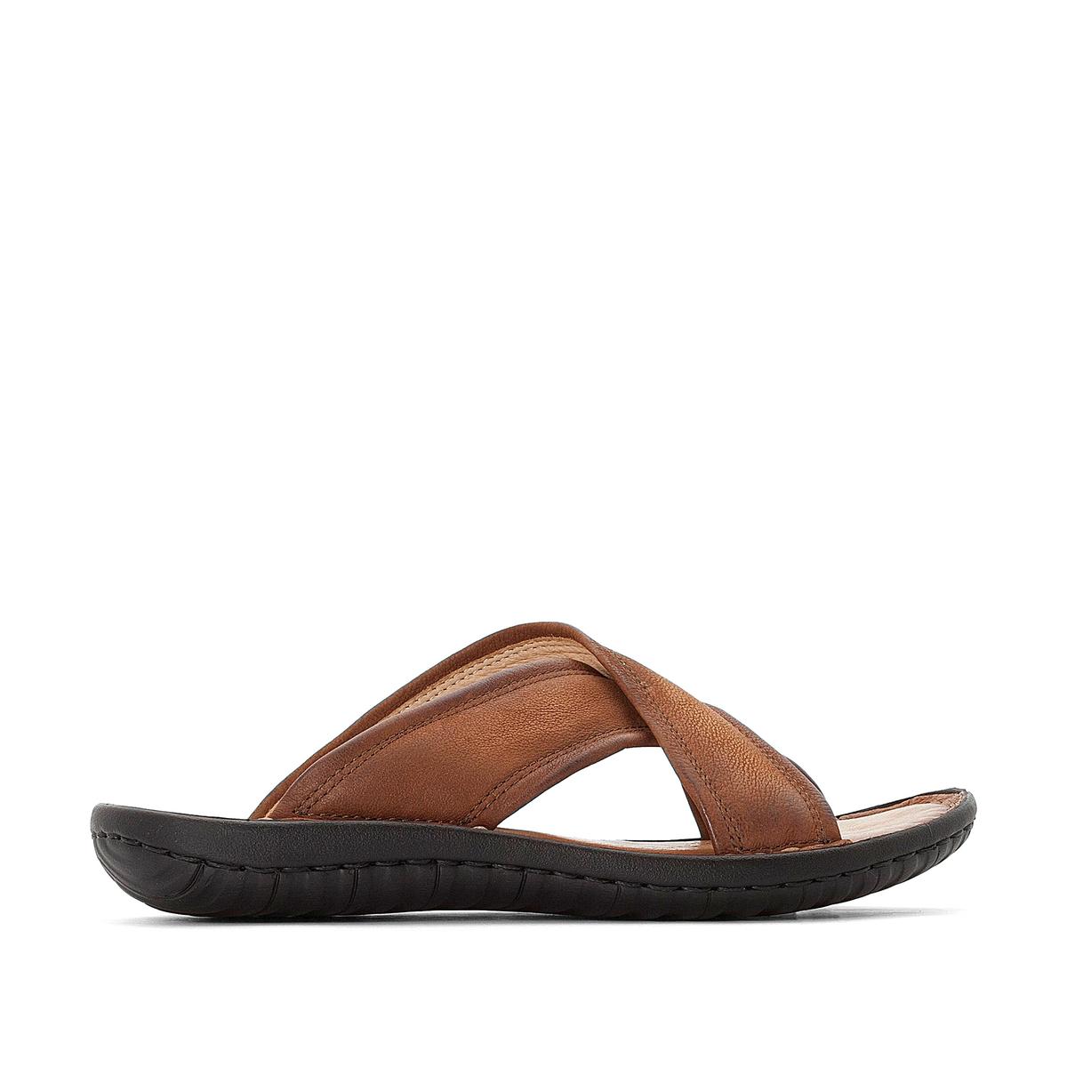 Туфли без задника кожаные Garda
