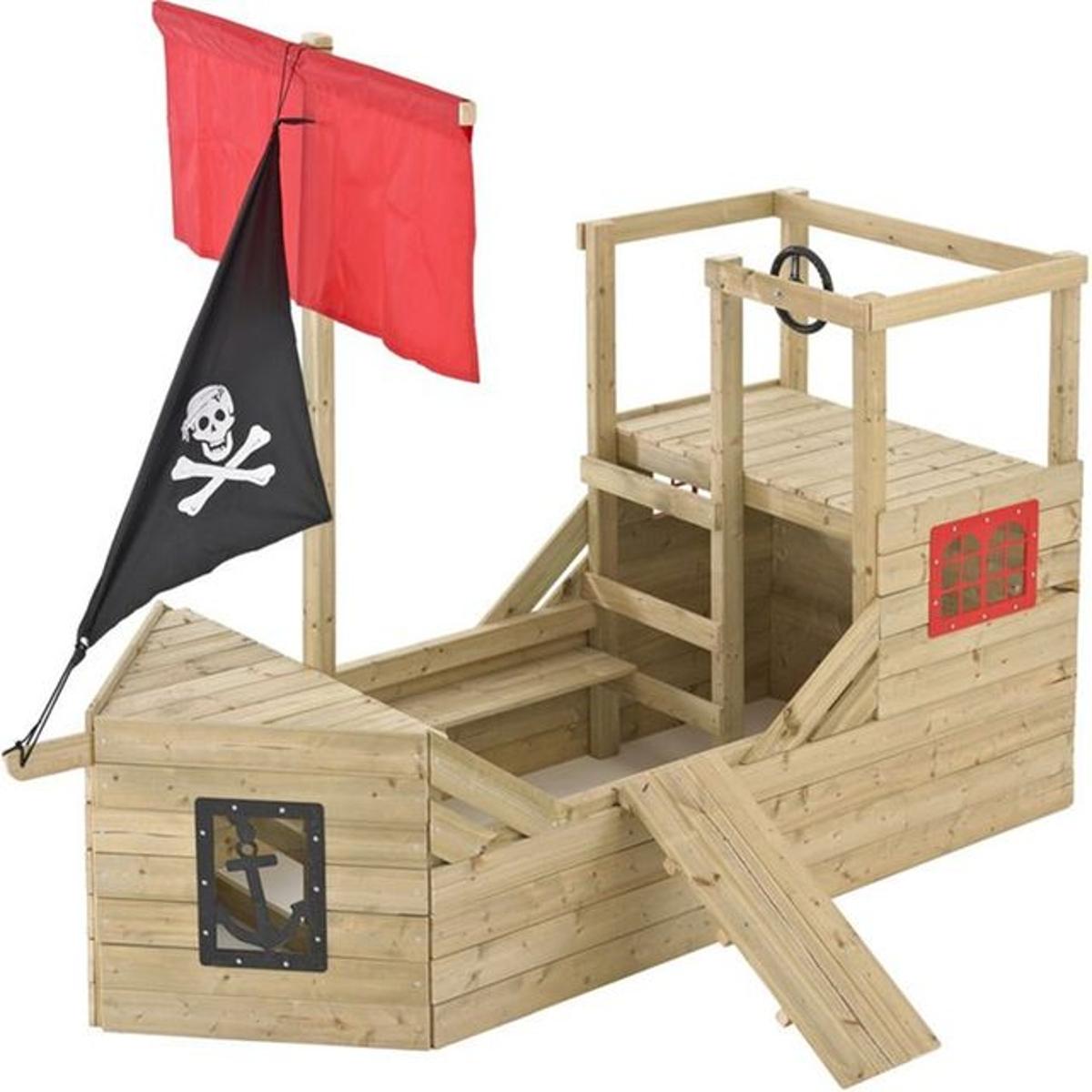 Cabane bateau pirate Galleon en bois