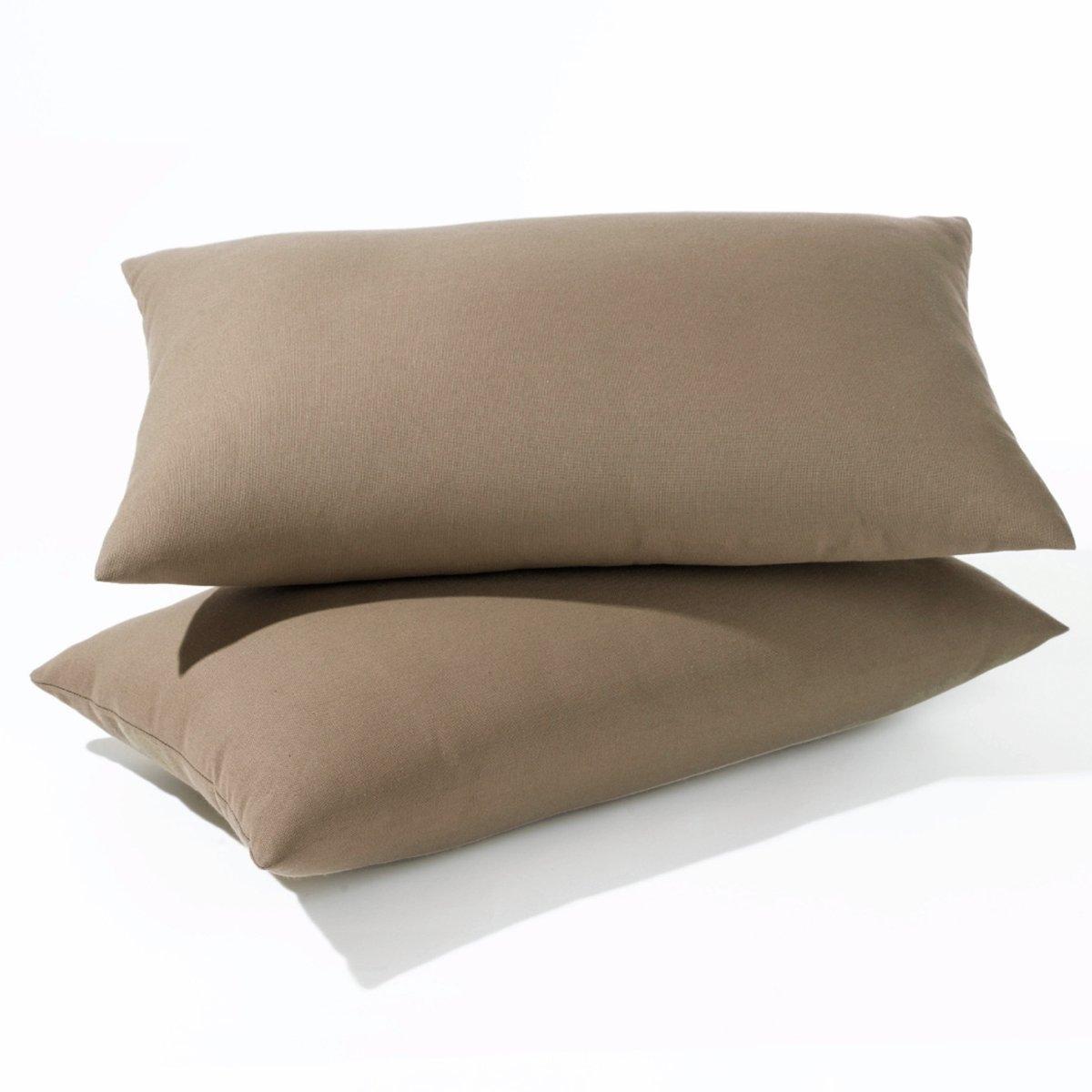 Комплект из 2 чехлов для подушек из поликоттонаКомплект из 2 чехлов для подушек из поликоттона подойдет для раскладных диванов (аккордеон и книжка). 7 расцветок для создания уникального интерьера на ваш вкус  !Характеристики чехлов для подушек из поликоттона для раскладных диванов:Качество VALEUR SURE, плотная ткань, 70% хлопка, 30% полиэстера. Скрытая застежка на молнию.  Размеры чехлов для подушек из поликоттона:Аккордеон : 50 x 30 см                                                                                           Книжка : 60 x 40 см<br><br>Цвет: антрацит,красный,серо-коричневый каштан