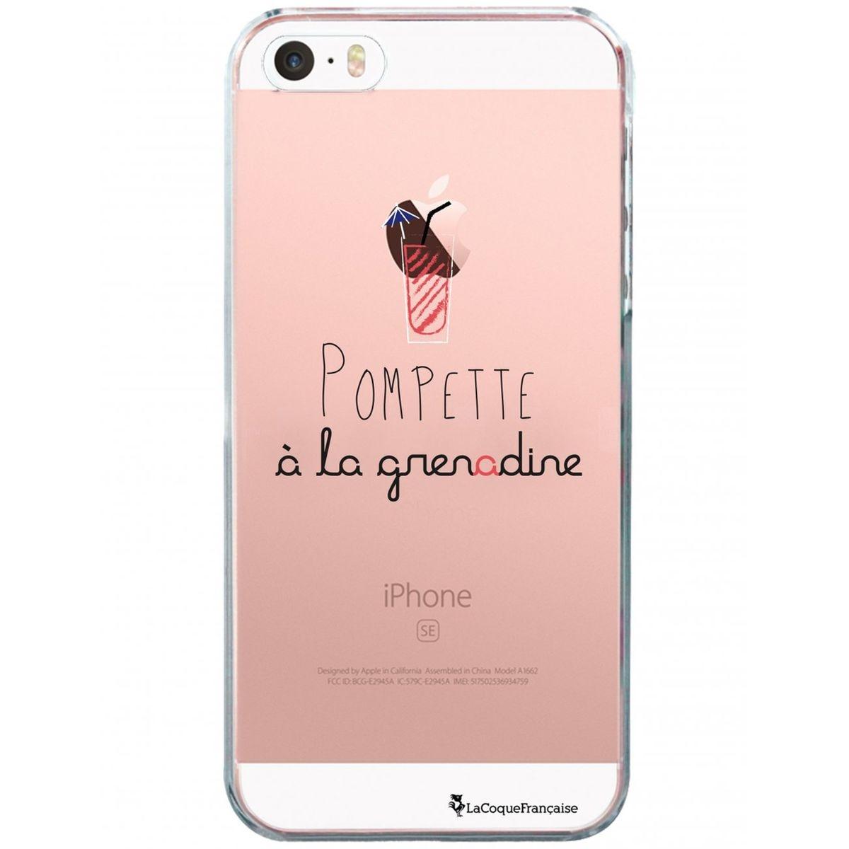 Coque iPhone SE / 5S / 5 rigide transparente, Pompette à la grenadine, La Coque Francaise®