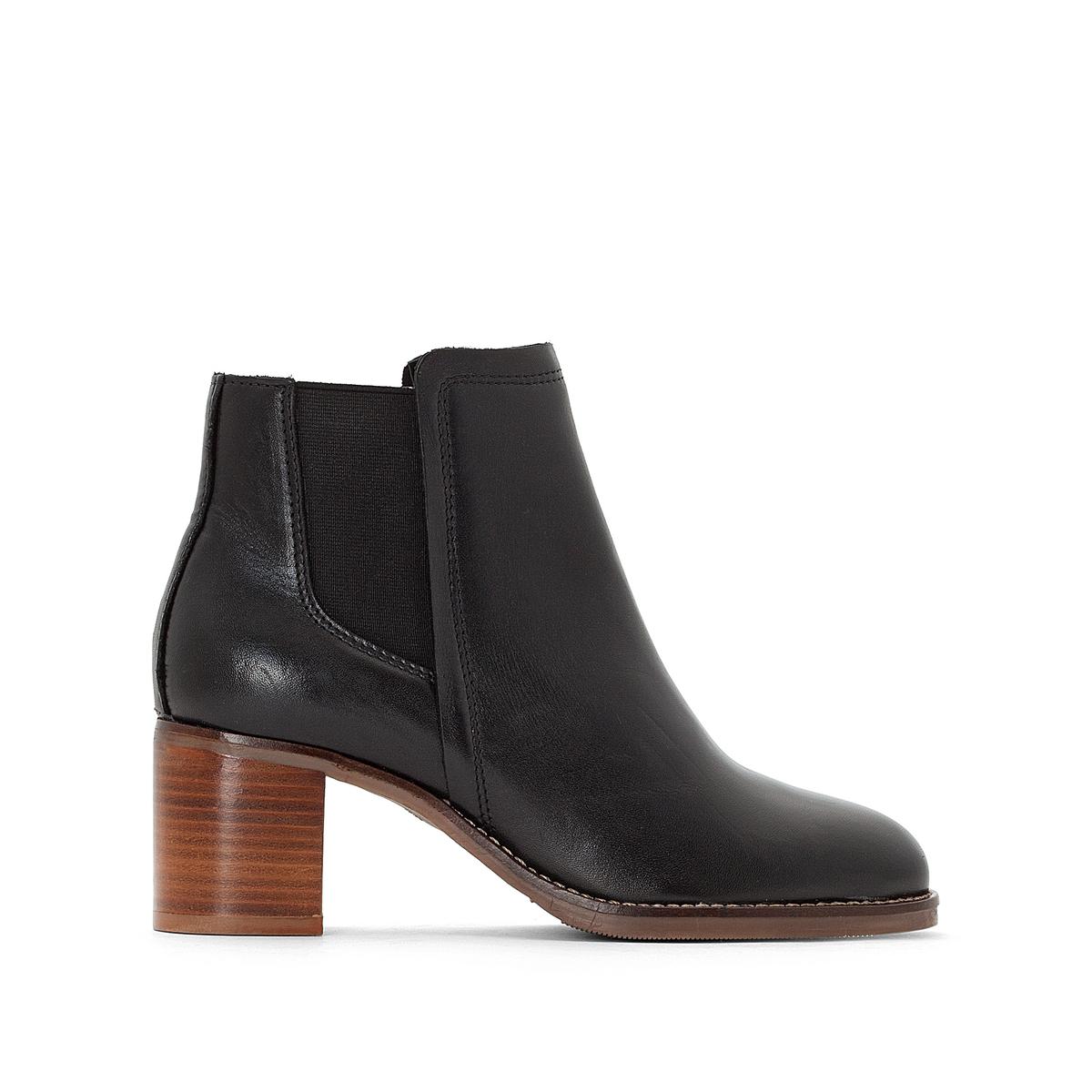Ботильоны кожаные на высоком каблуке цены онлайн