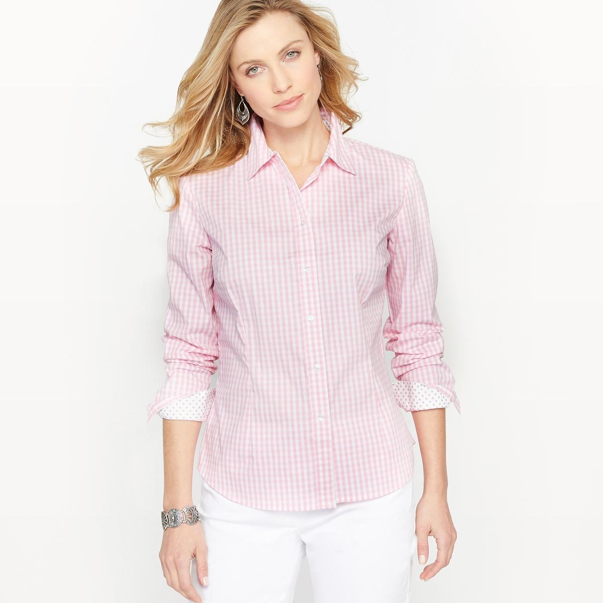 Рубашка в клетку виши из окрашенных волокон рубашка в клетку dc atura 3 atura black