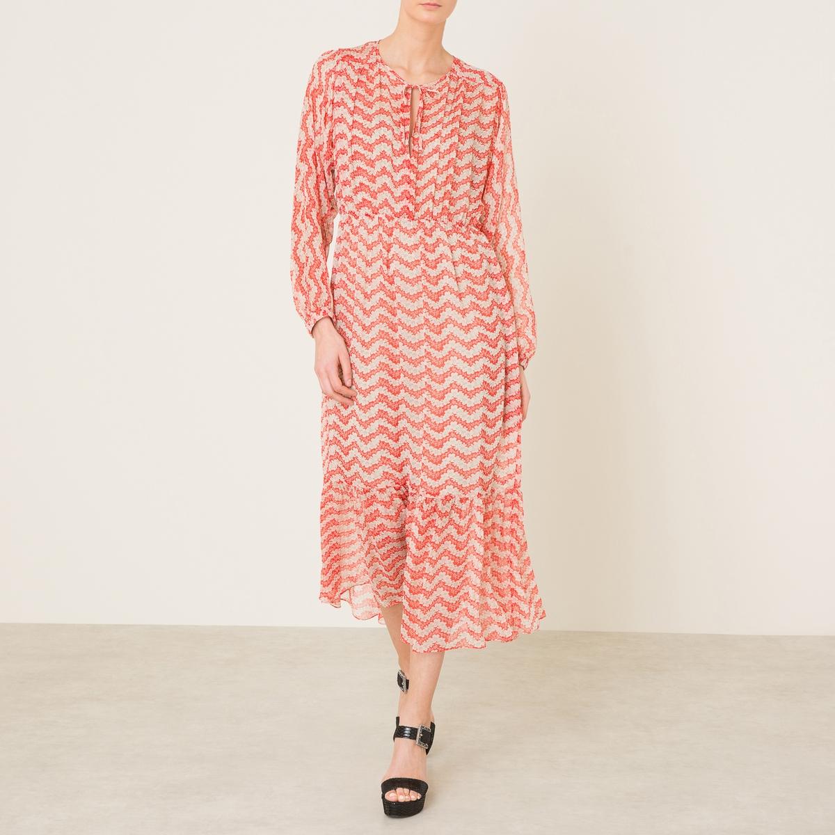 Платье из шелка с принтом the kooples шорты для плавания