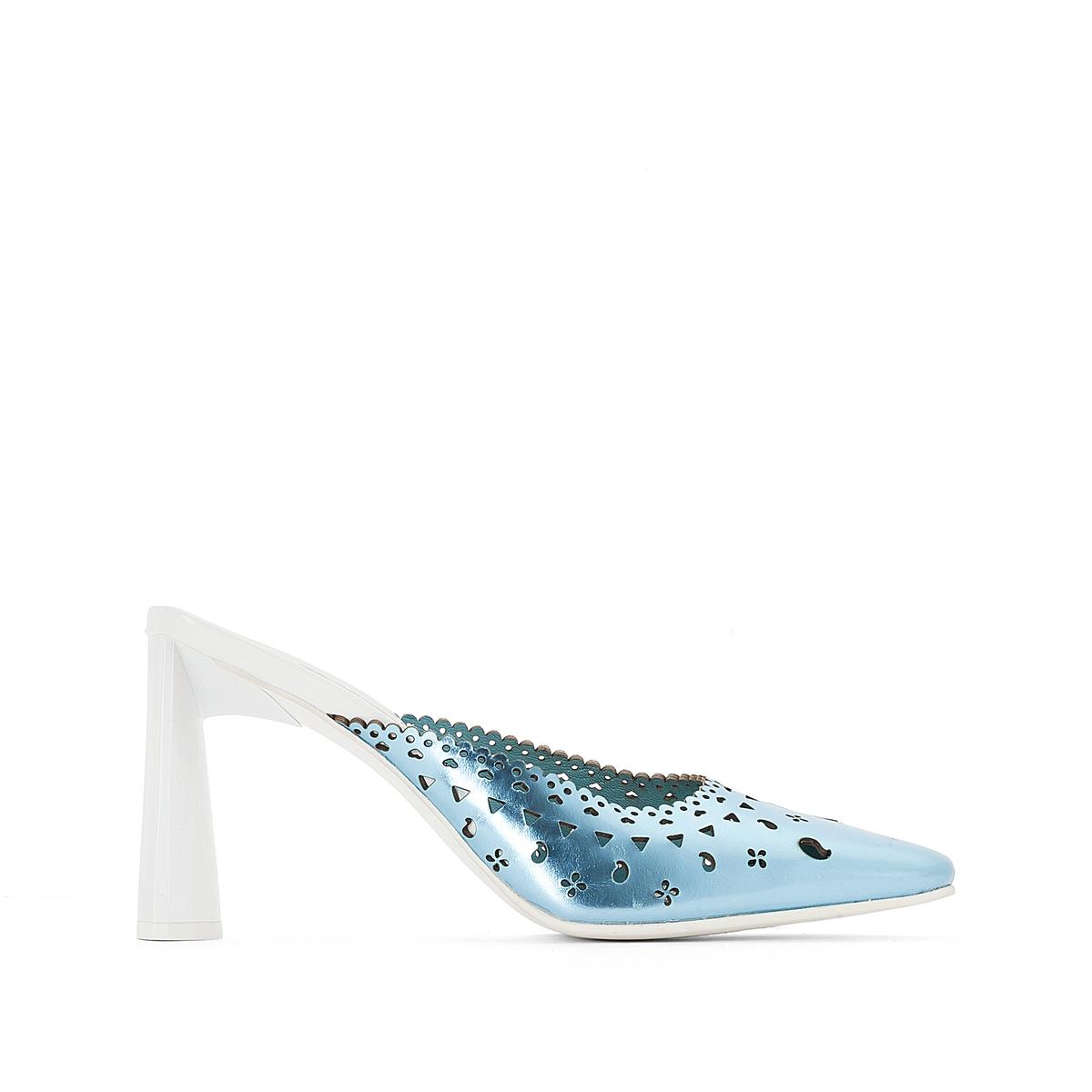 Туфли без задника кожаные от Amélie Pichard x La Redoute