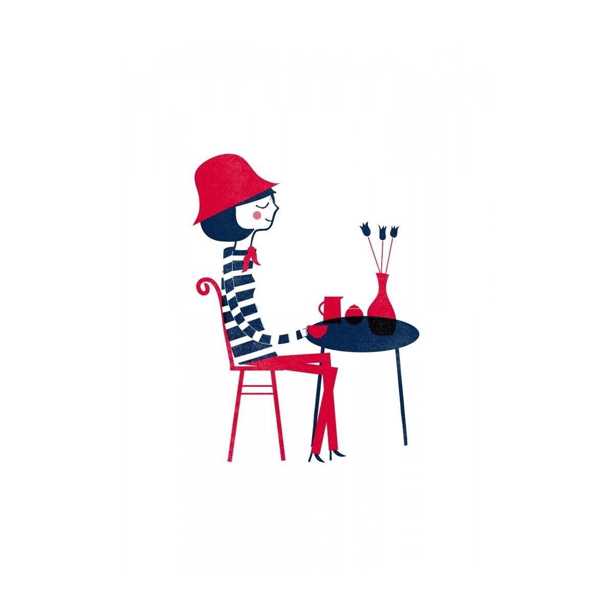 Affiche Parisienne Blanca Gomez