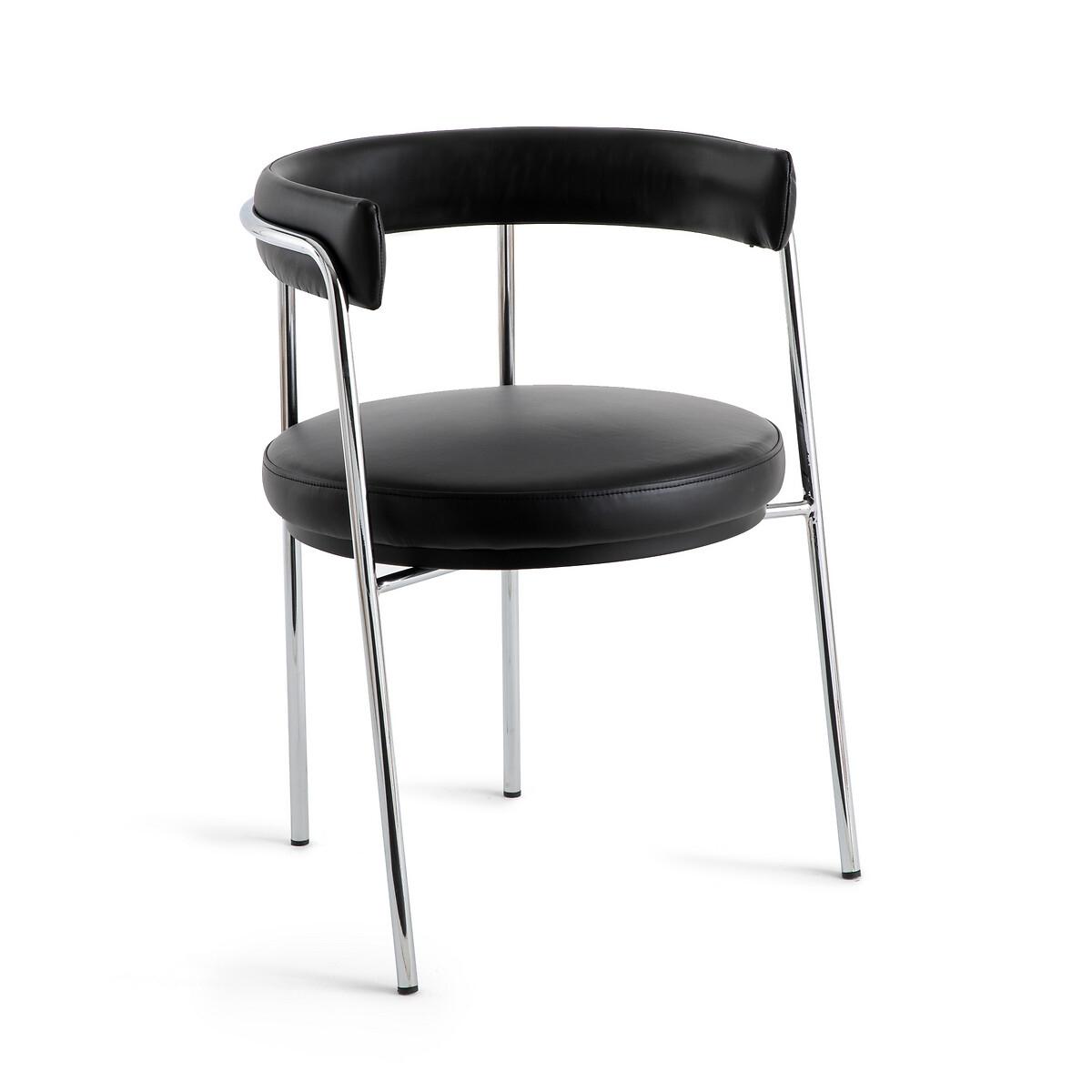 Кресло LaRedoute Для стола кожаное Tubby единый размер черный