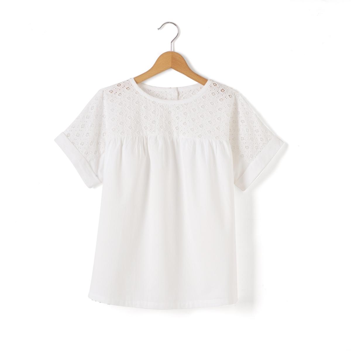 Блузка со складками, 10-16 лет