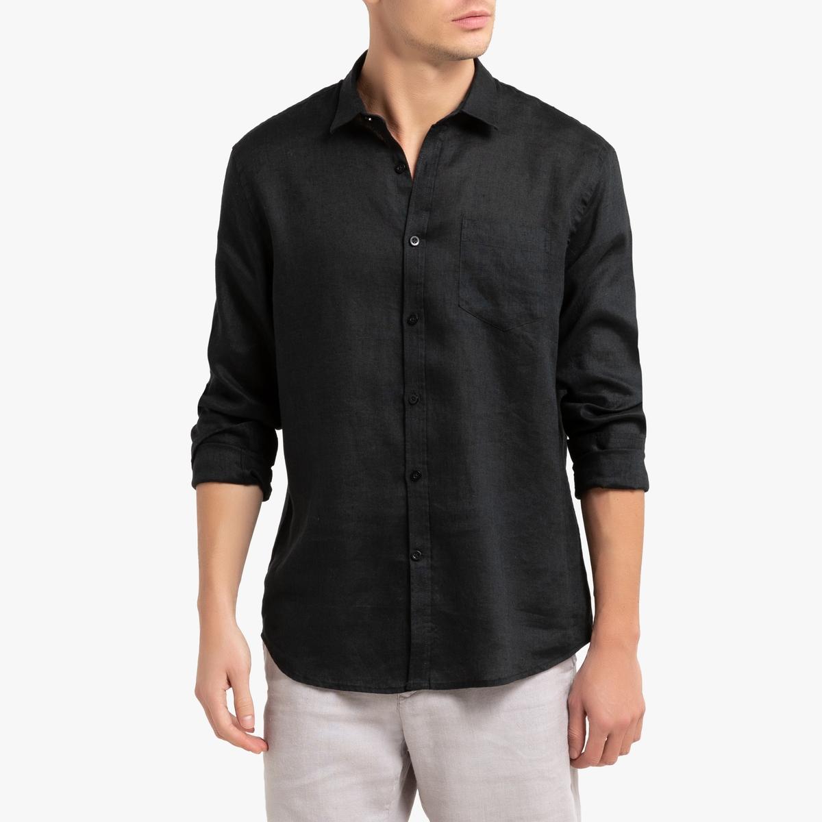 Camisa con corte regular de lino, Clément