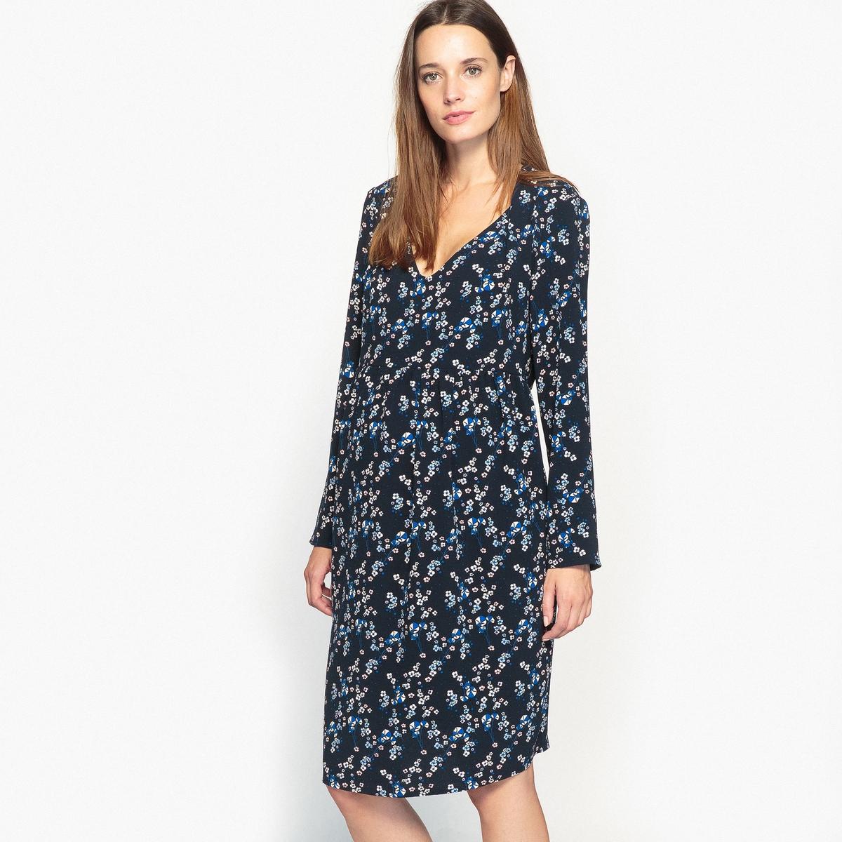 Ciążowa sukienka w kwiaty