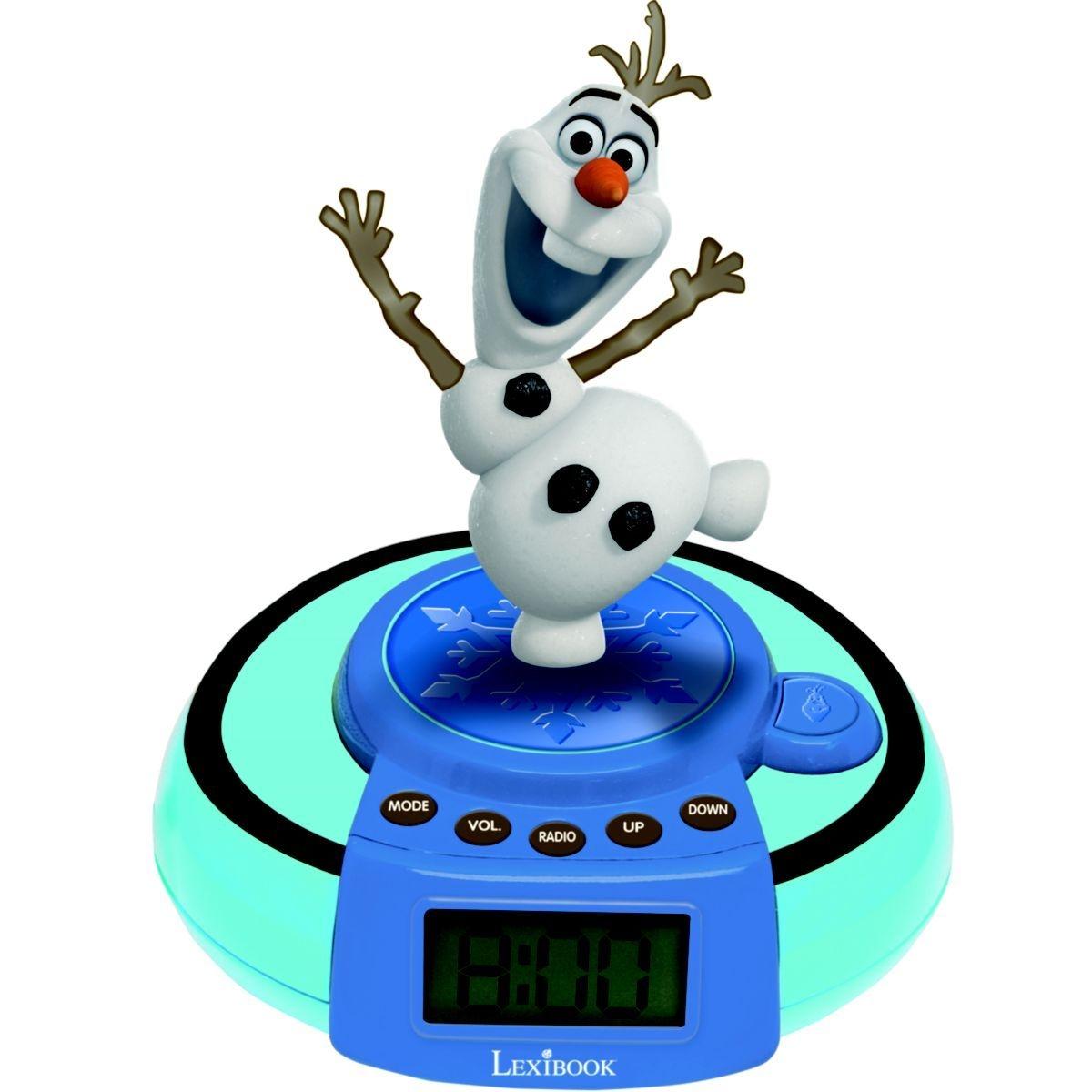 Réveil enfant LEXIBOOK Projecteur Jumper Olaf