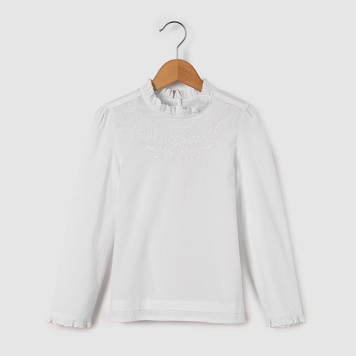 Блузка с длинными рукавами 3-12 лет