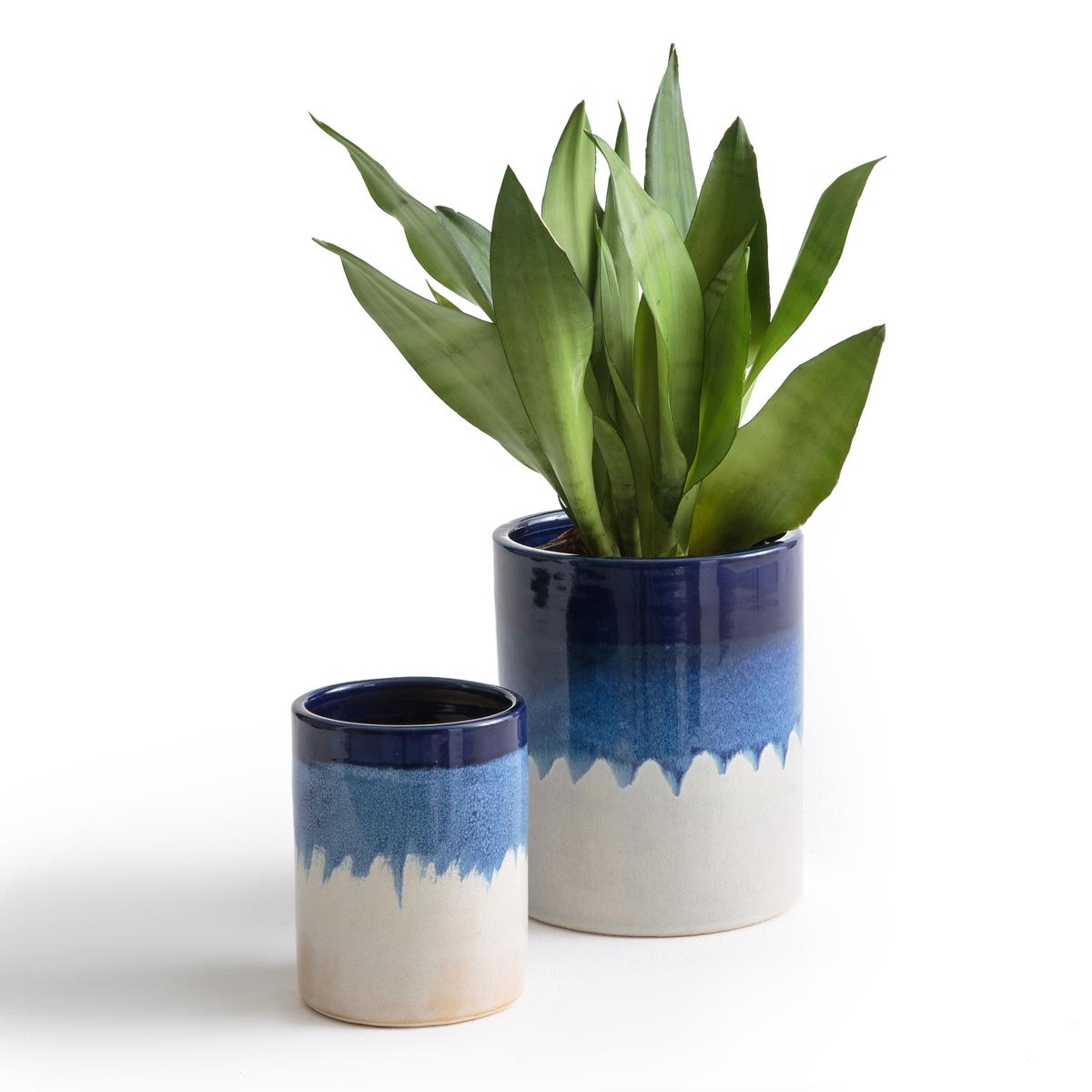 Fioriera ceramica tie & dye Tapiwa (conf. da 2)