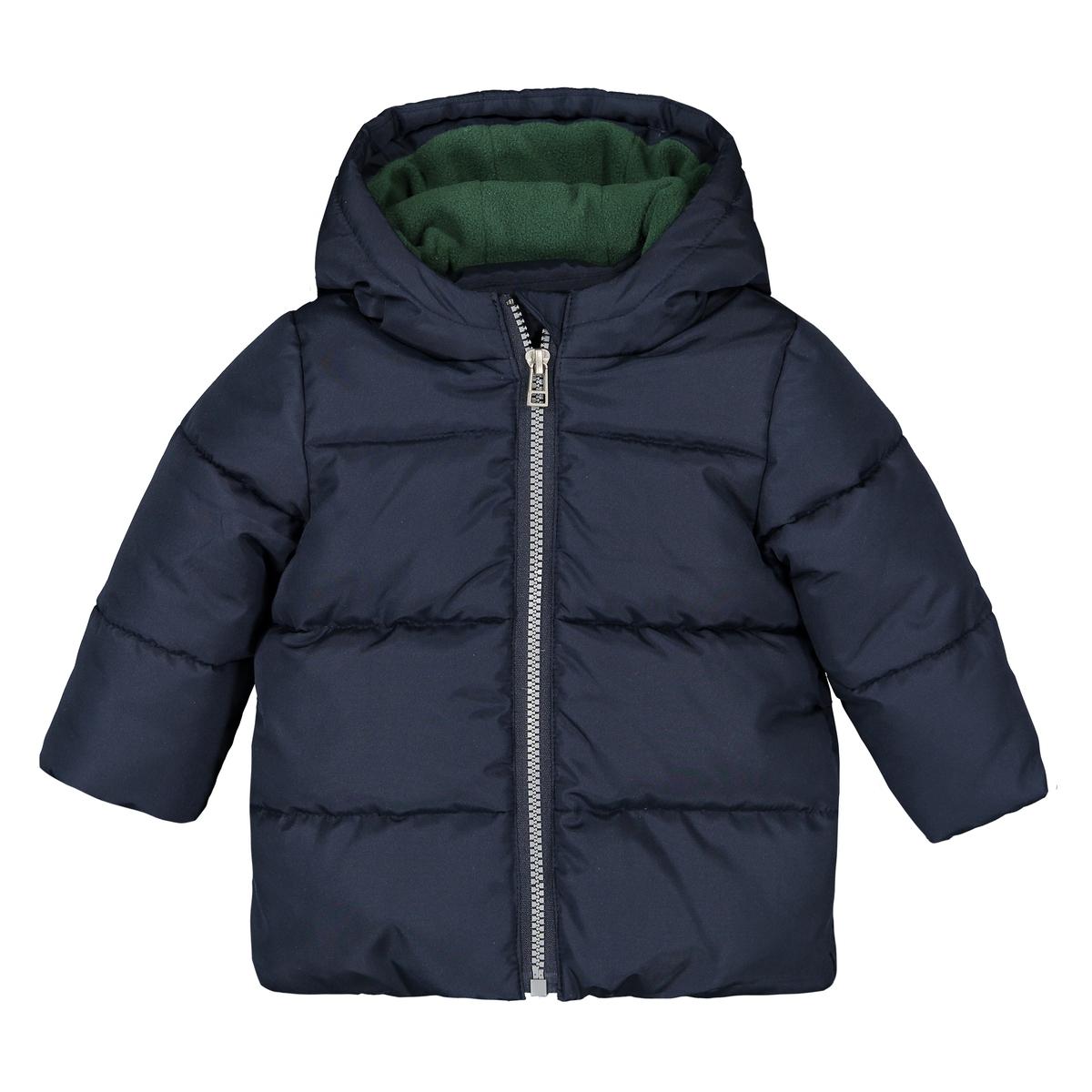цена Утепленная La Redoute Куртка с капюшоном мес- года 3 мес. - 60 см синий онлайн в 2017 году