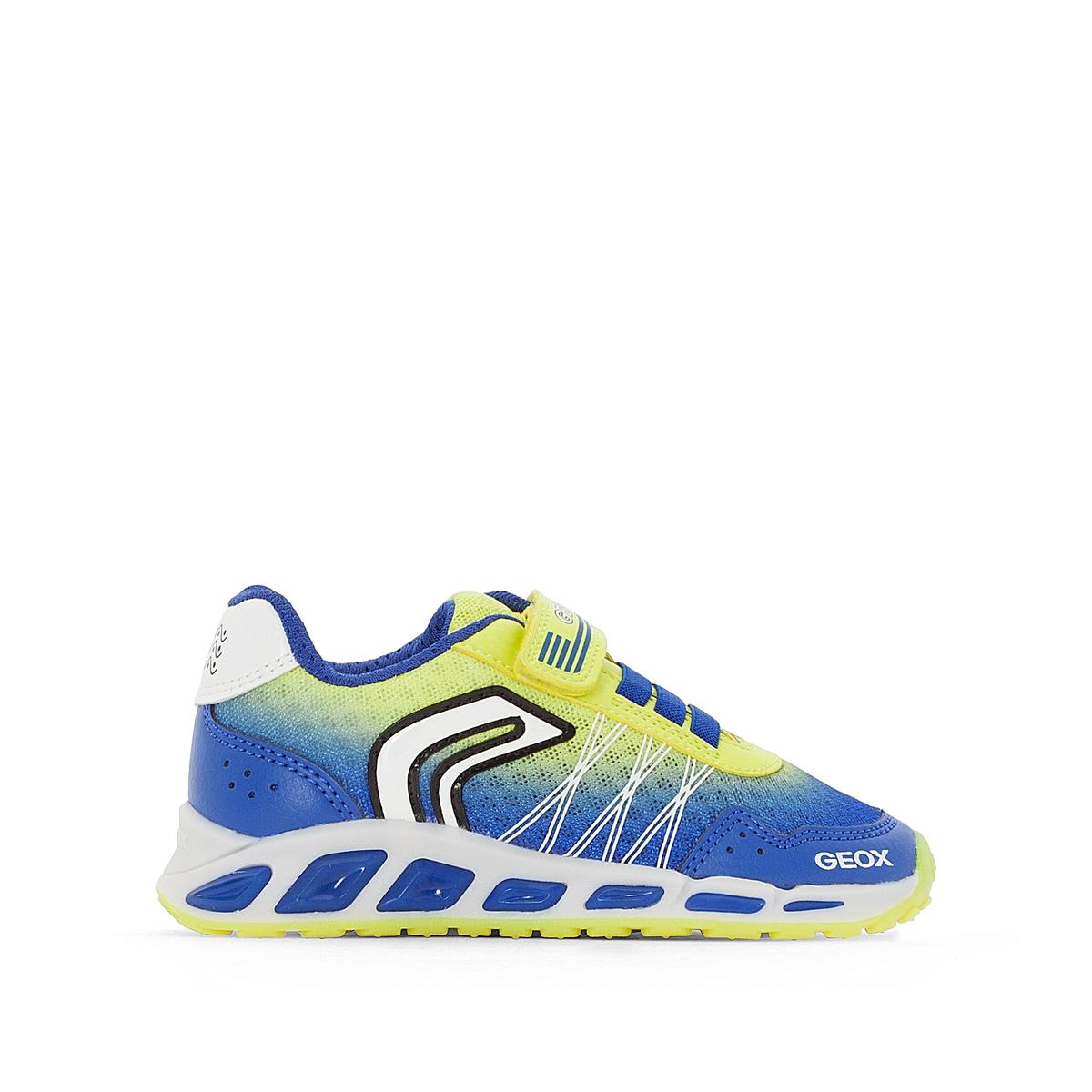 Кеды J SHUTTLE B. BДетали: •  Спортивный стиль. •  Плоский каблук. •  Застежка: шнуровка.Состав и уход: •  Верх: 74% полиэстера, 26% синтетики. •  Подкладка: 100% полиэстер. •  Подошва: 100% каучук.<br><br>Цвет: синий/ желтый