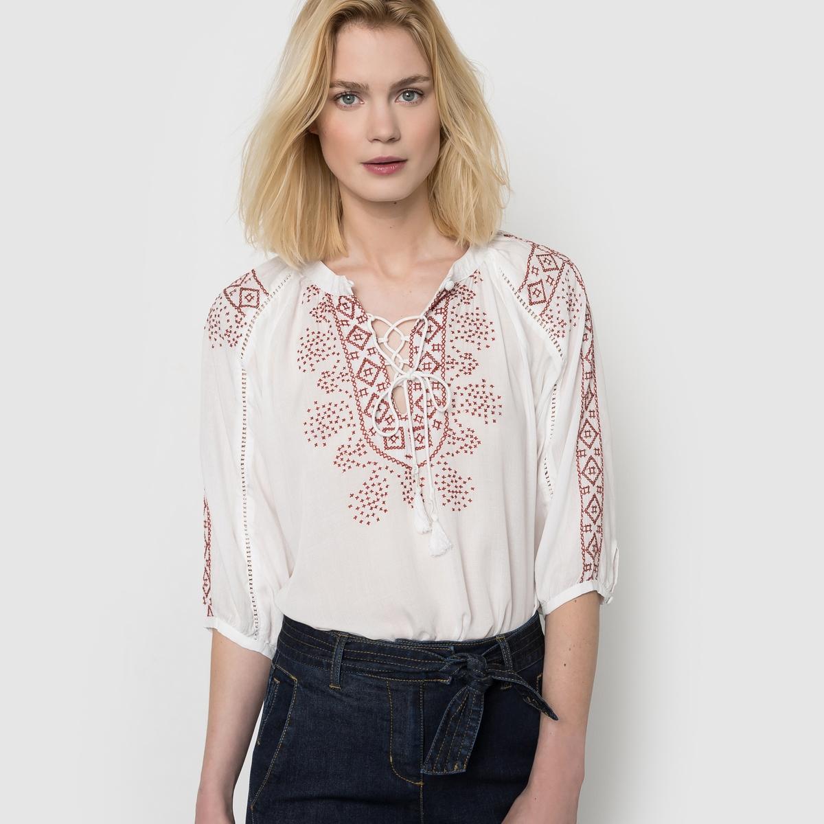 Блузка с вышивкой блузка с вышивкой в этническом стиле