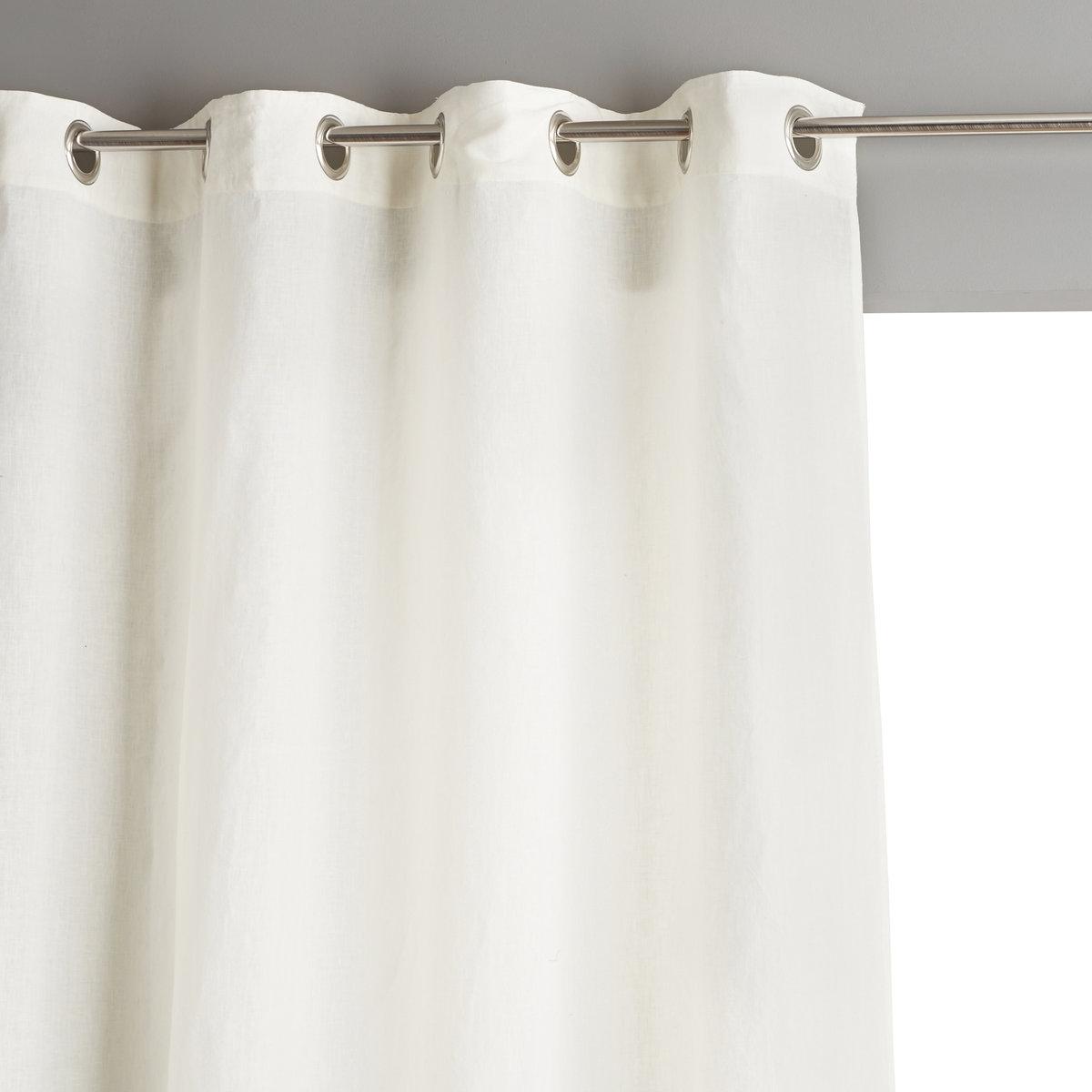 Штора La Redoute Из льна с люверсами Private 140 x 260 см белый штора двухцветная с люверсами 100
