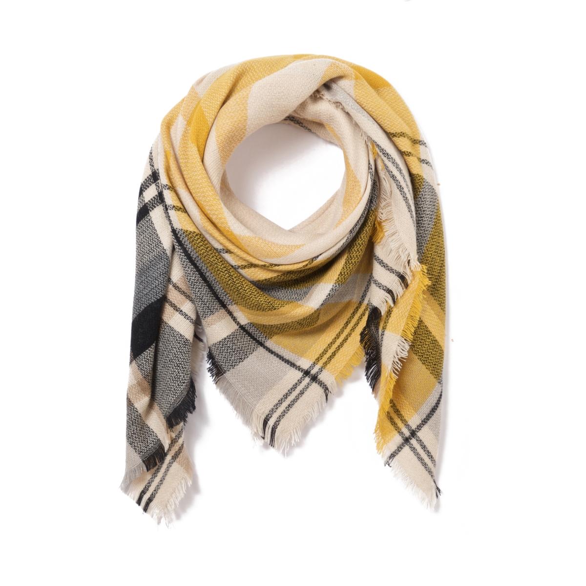 Шарф в шотландском стилеШарф в клетку в шотландском стиле, который подходит для осенней погоды. Состав и описание : Материал : 100% акрилРазмеры : 180 x 180 смУход : Следуйте рекомендациям, указанным на этикетке изделия.<br><br>Цвет: желтый/темно-синий/белый,красный темный<br>Размер: единый размер.единый размер