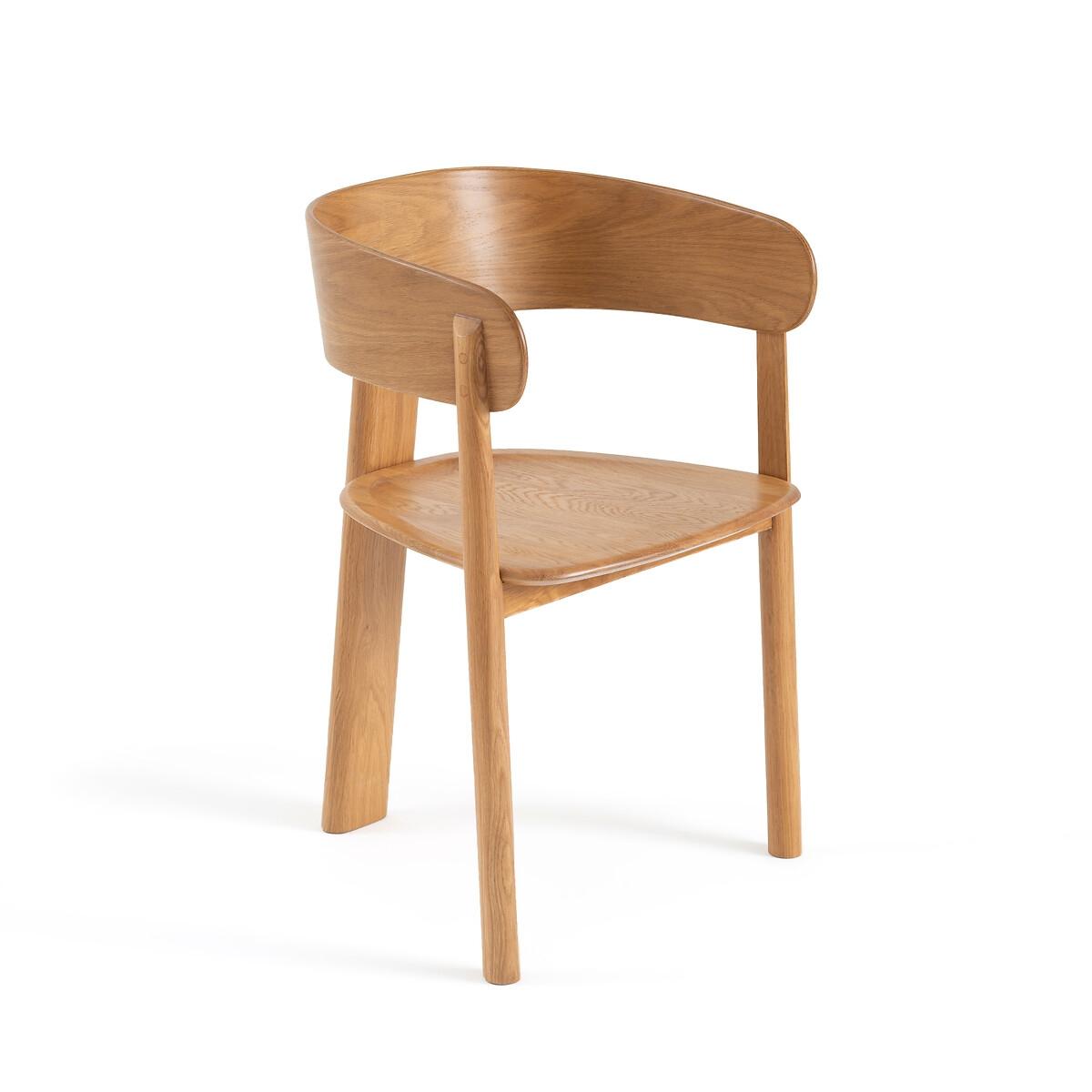 Кресло LaRedoute Для столовой Marais дизайн Э Галлина единый размер каштановый