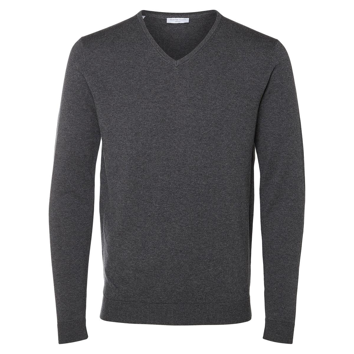 Пуловер из тонкого трикотажаДетали  •  Длинные рукава  •   V-образный вырез •  Тонкий трикотаж Состав и уход  •  5% шелка, 95% хлопка •  Следуйте советам по уходу, указанным на этикетке<br><br>Цвет: серый,синий морской